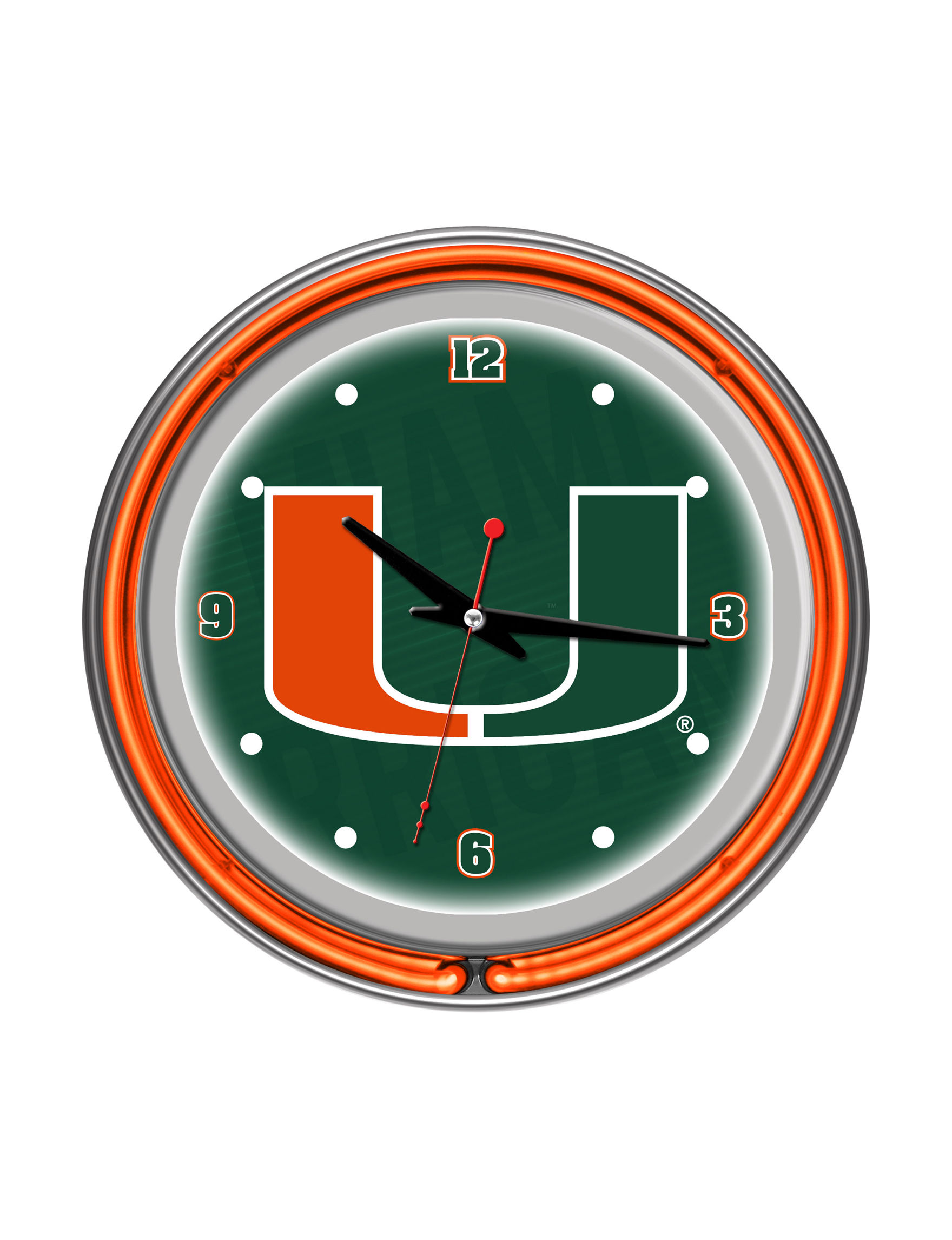 NCAA Green Decorative Objects Wall Art Wall Clocks Home Accents Wall Decor