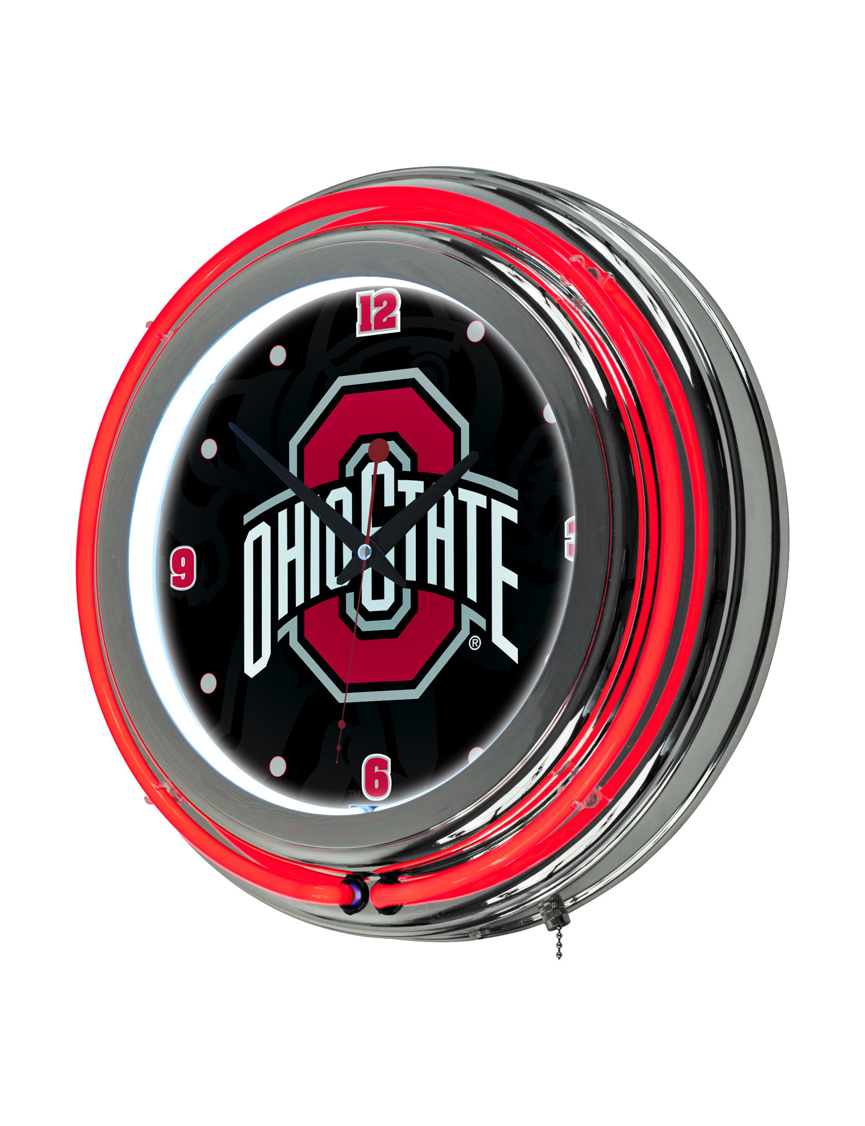 NCAA Red Decorative Objects Wall Art Wall Clocks Home Accents Wall Decor