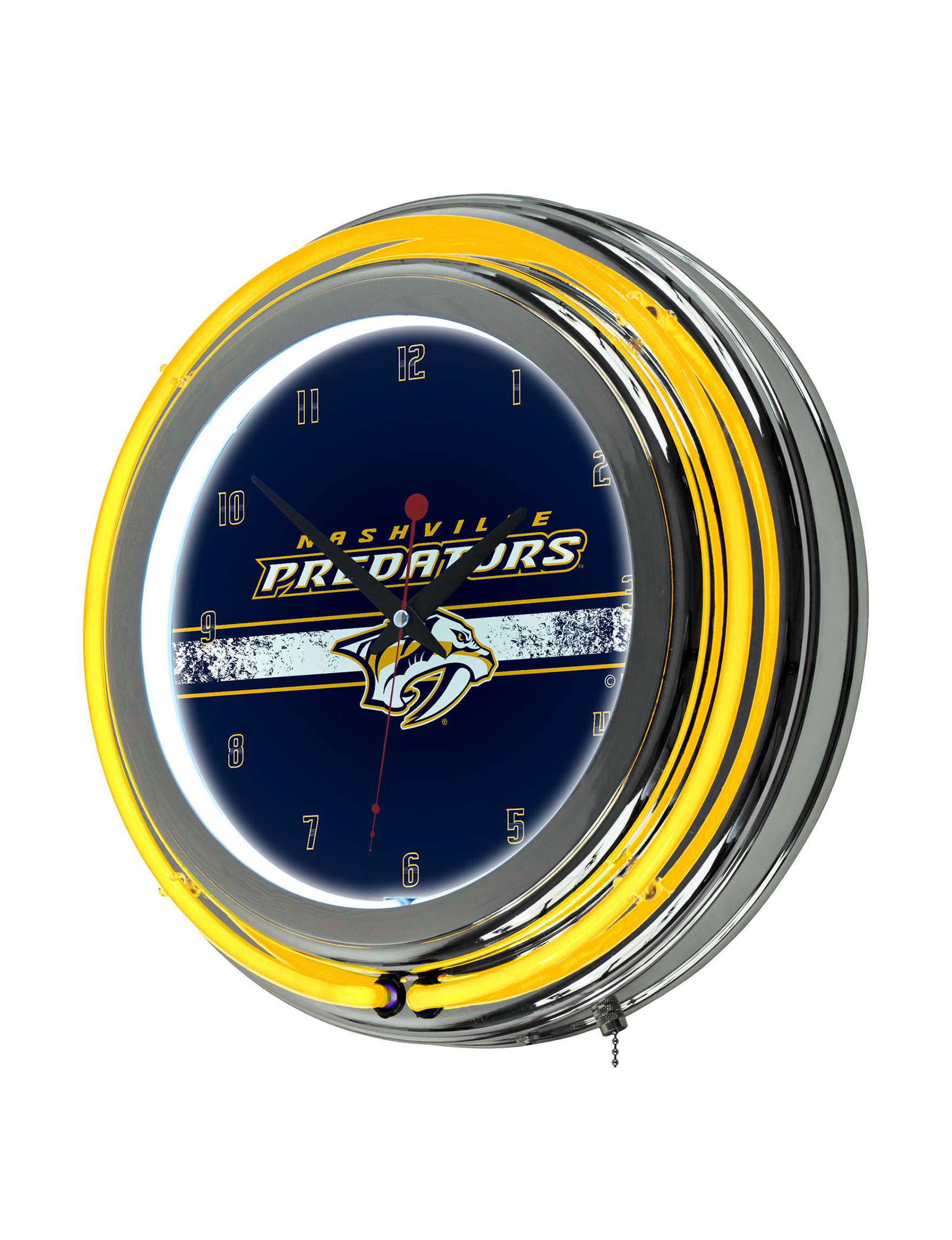 NHL Red Decorative Objects Wall Art Wall Clocks Home Accents Wall Decor