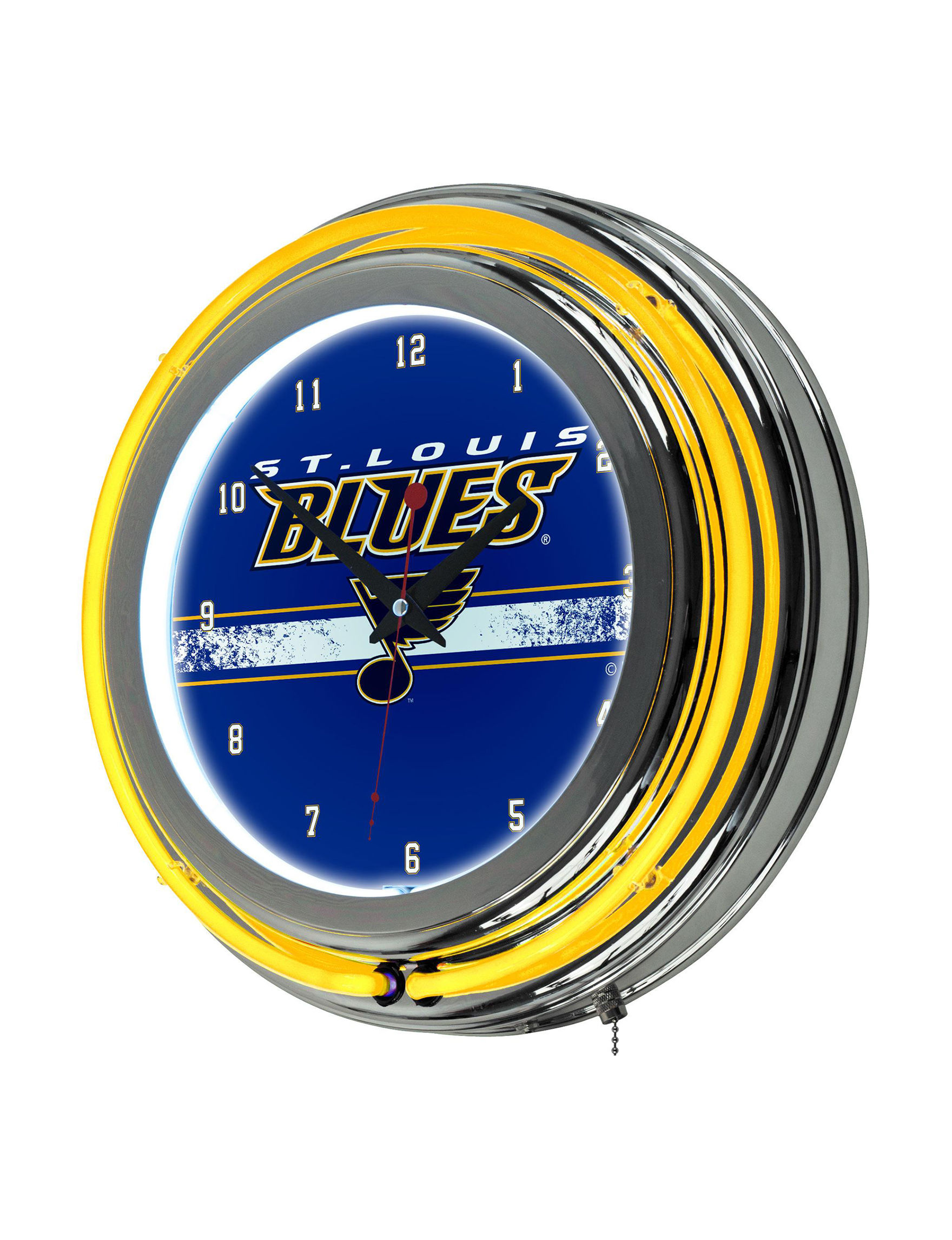 St louis blues double ring neon wall clock stage stores for Craft stores st louis