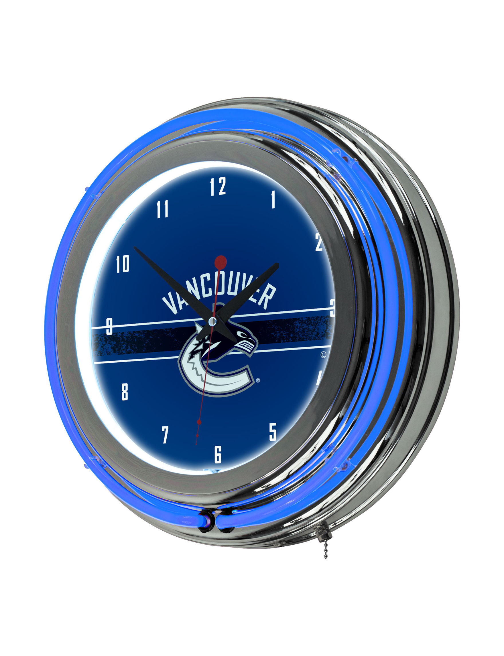 NHL Blue Decorative Objects Wall Art Wall Clocks Home Accents Wall Decor