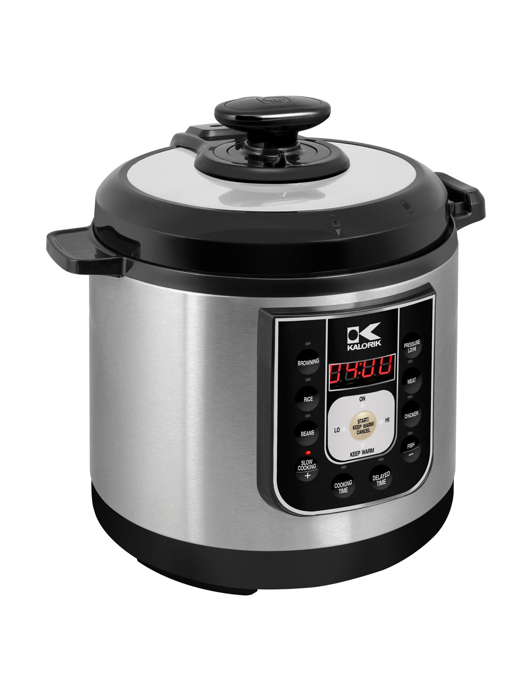 Kalorik Black Pressure Cookers, Rice Cookers & Steamers Kitchen Appliances
