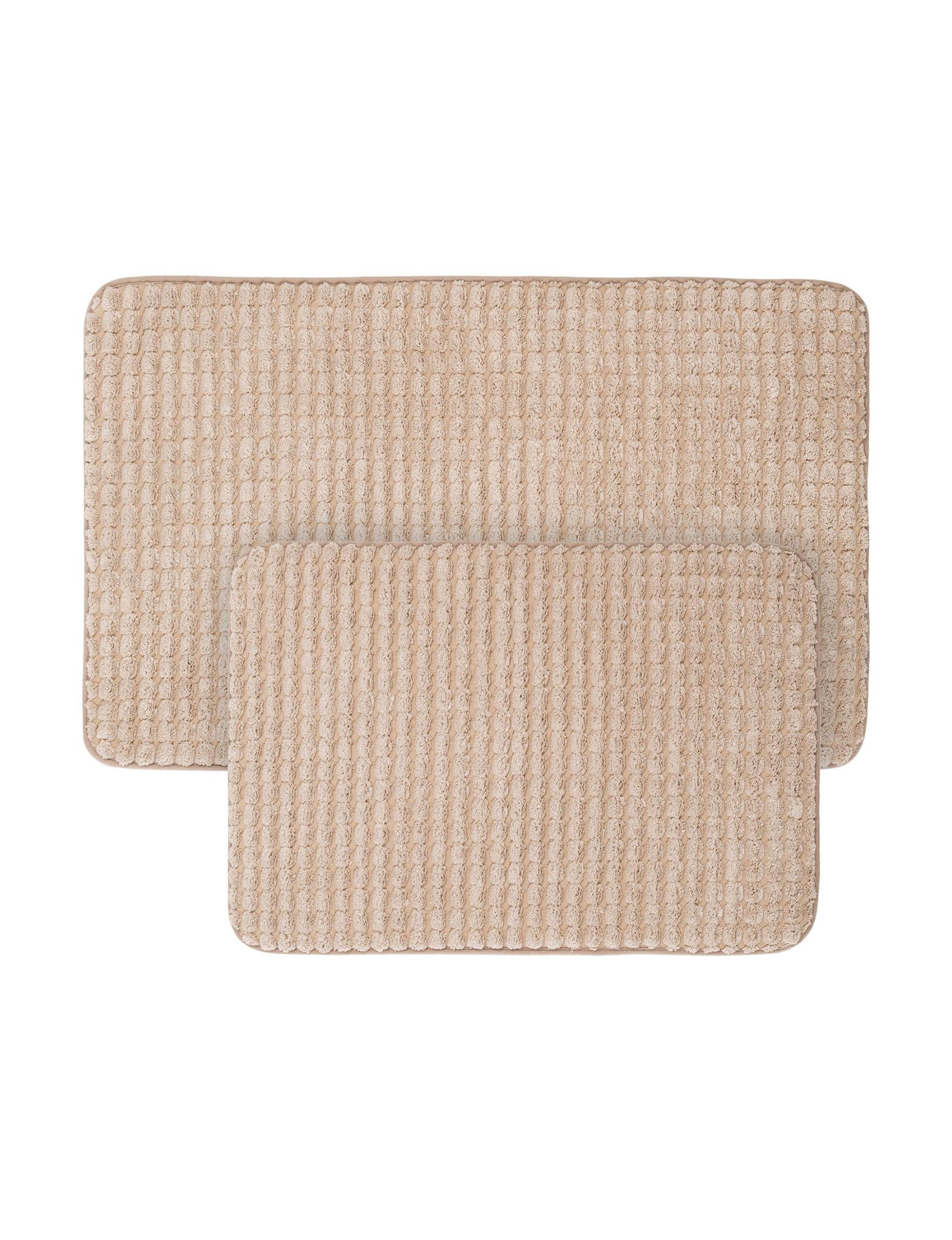 Lavish Home Taupe Bath Rugs & Mats