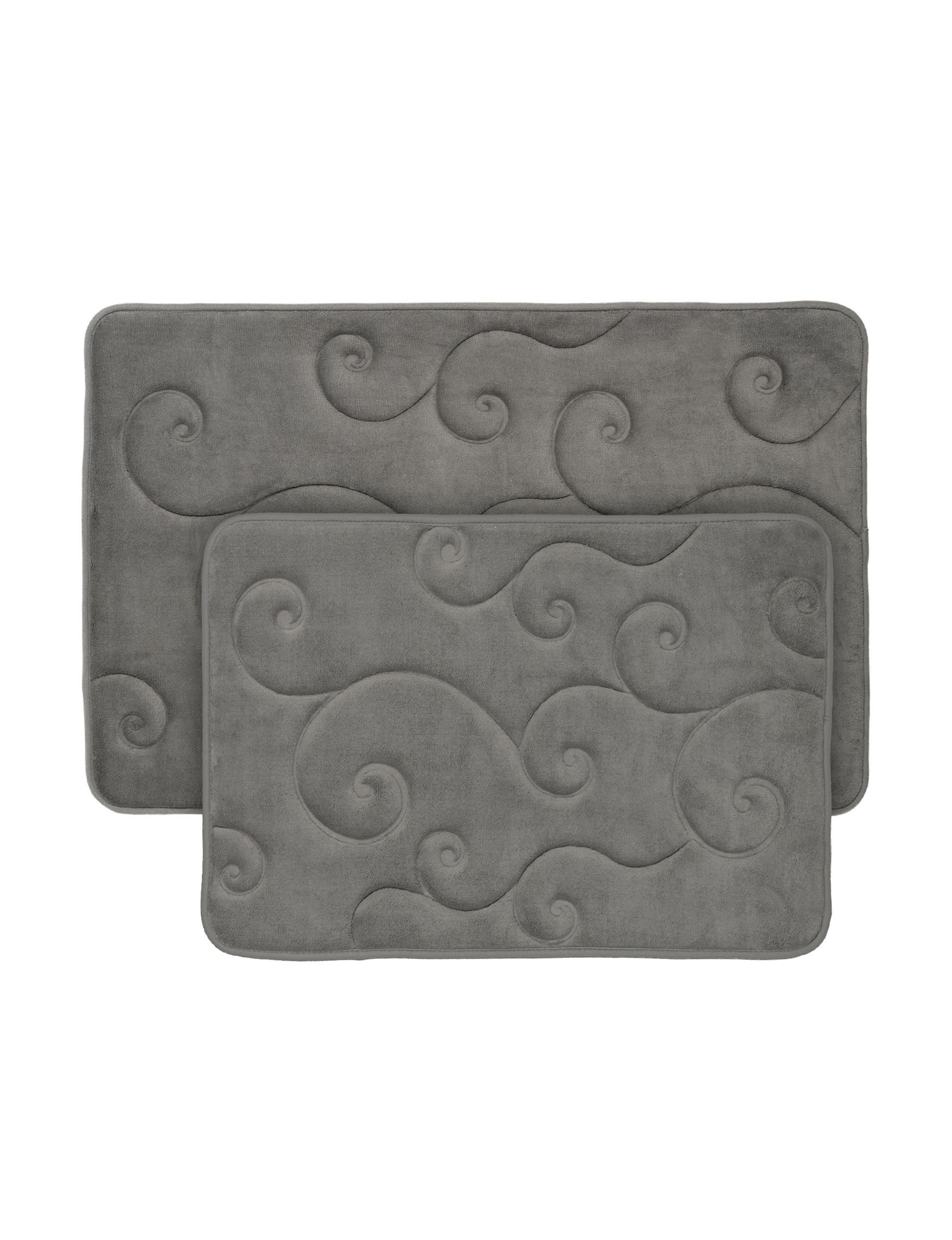 Lavish Home Platinum Bath Rugs & Mats