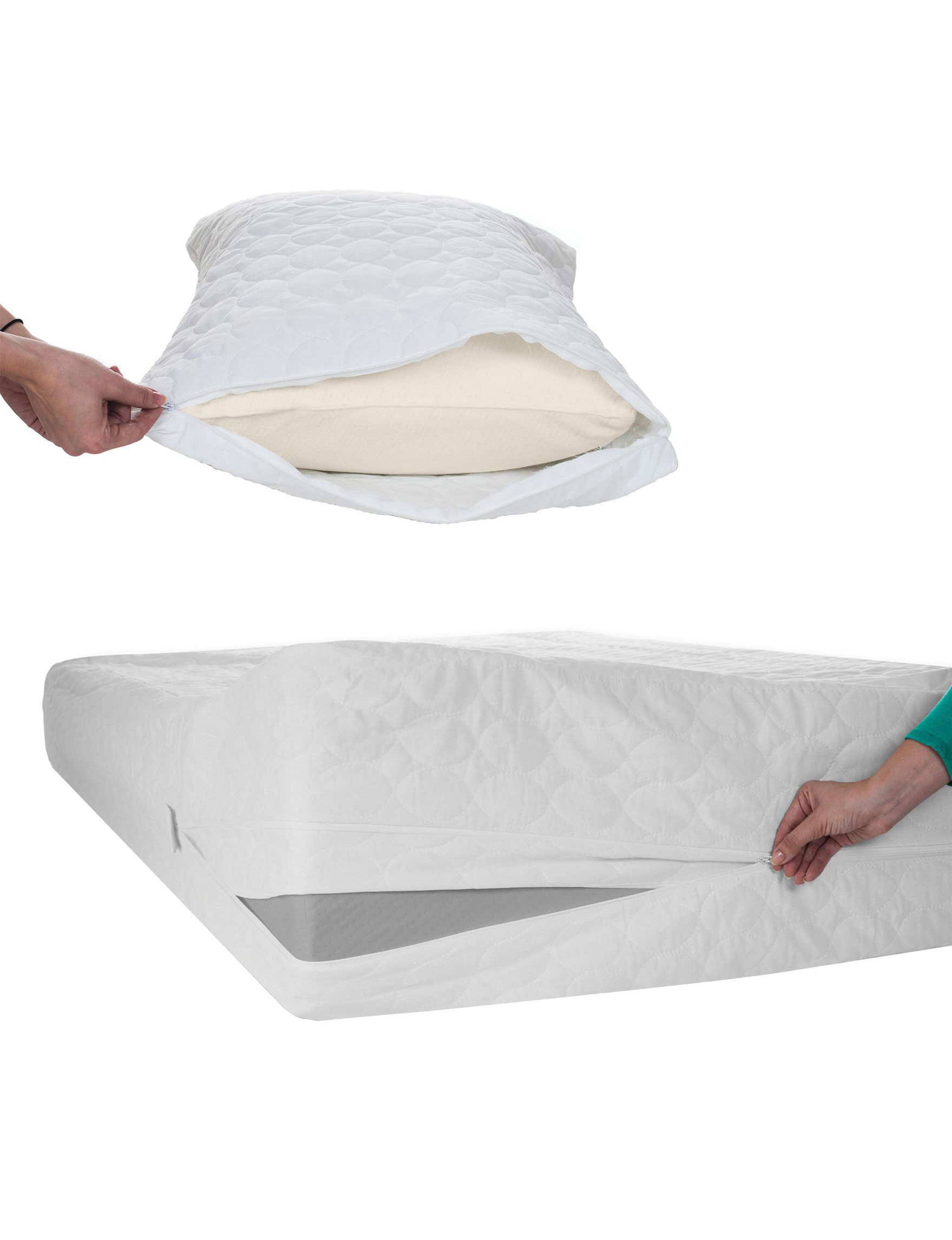 Remedy White Mattress Pads & Toppers Sheets & Pillowcases