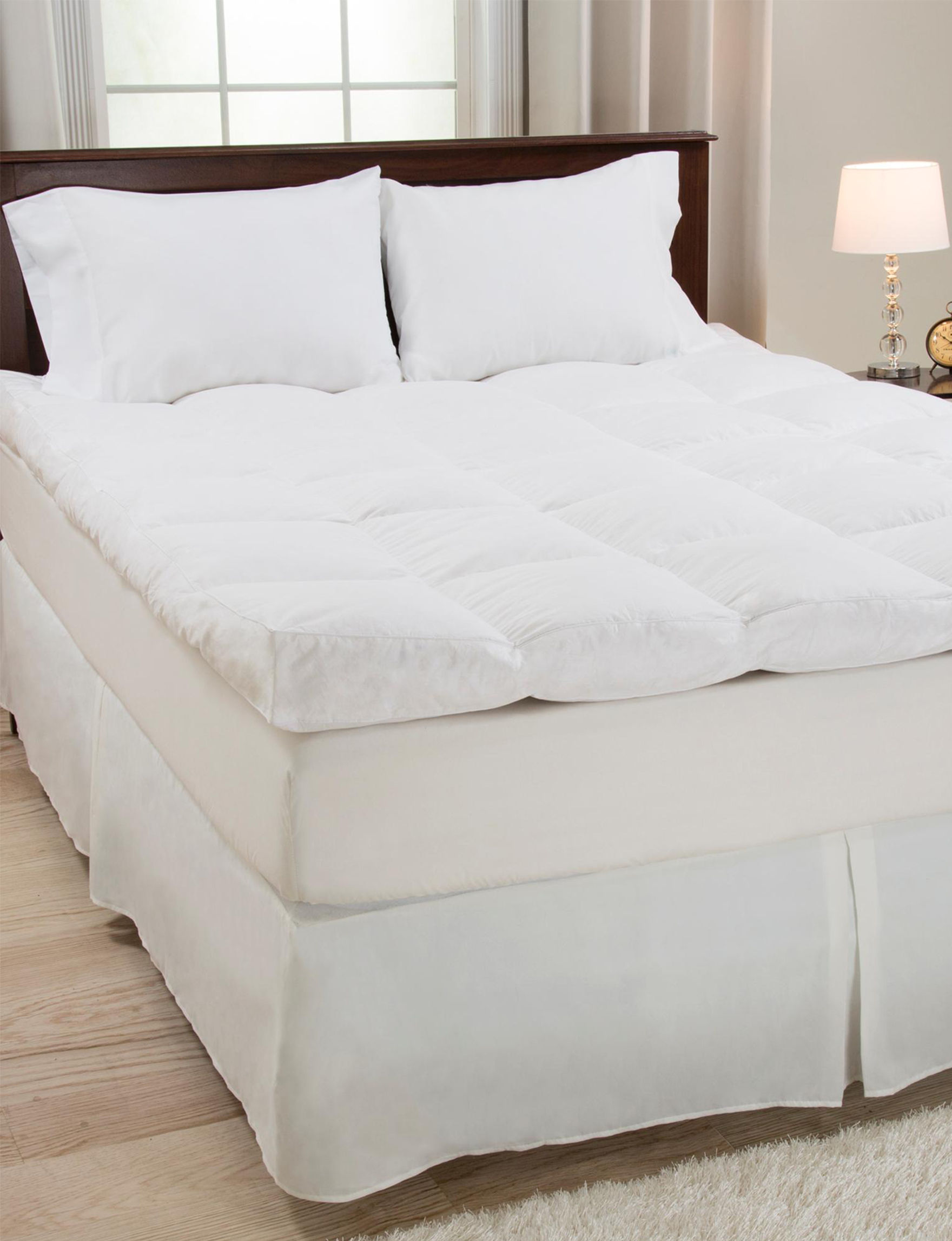 Lavish Home White Mattress Pads & Toppers