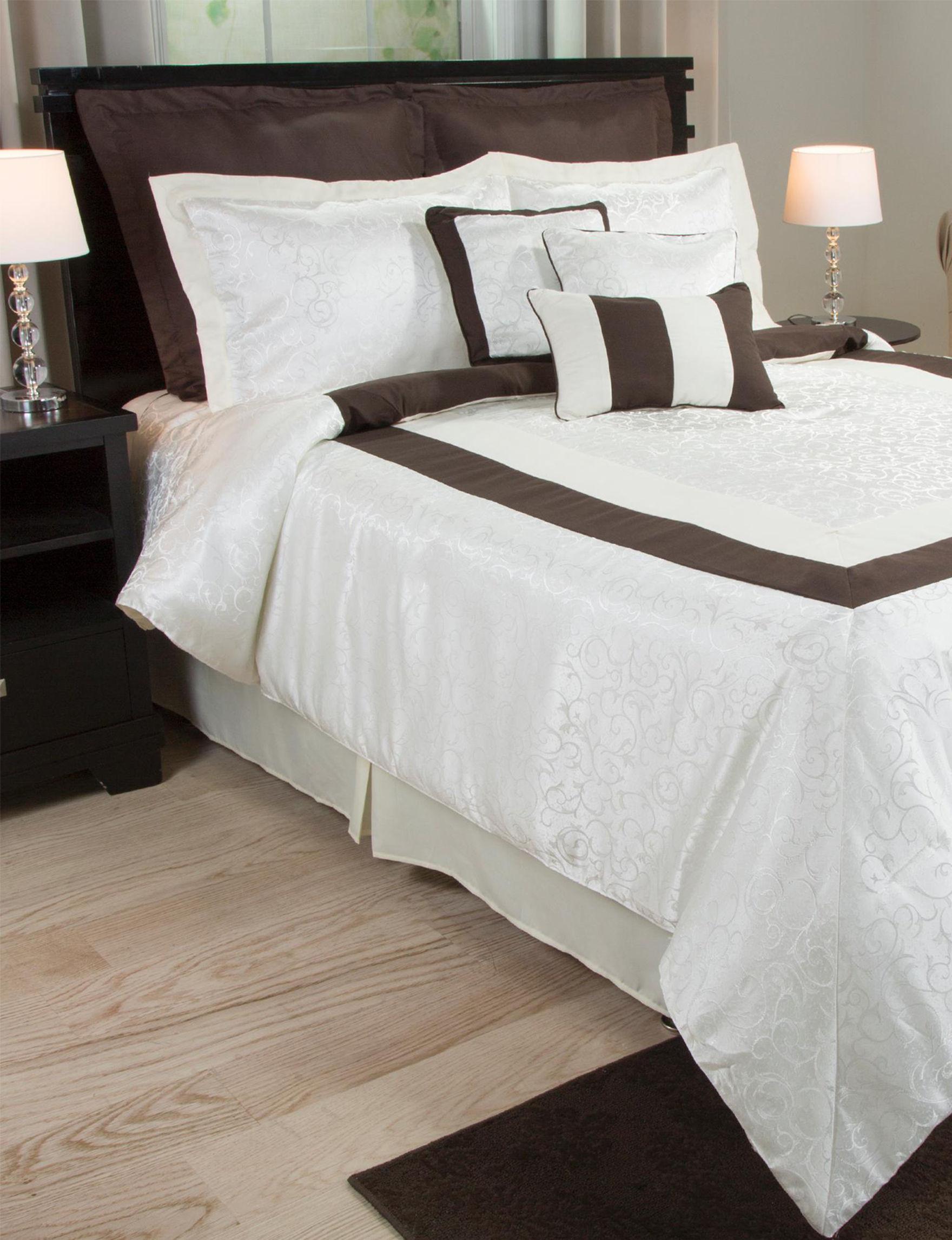 Lavish Home Brown / Ivory Comforters & Comforter Sets