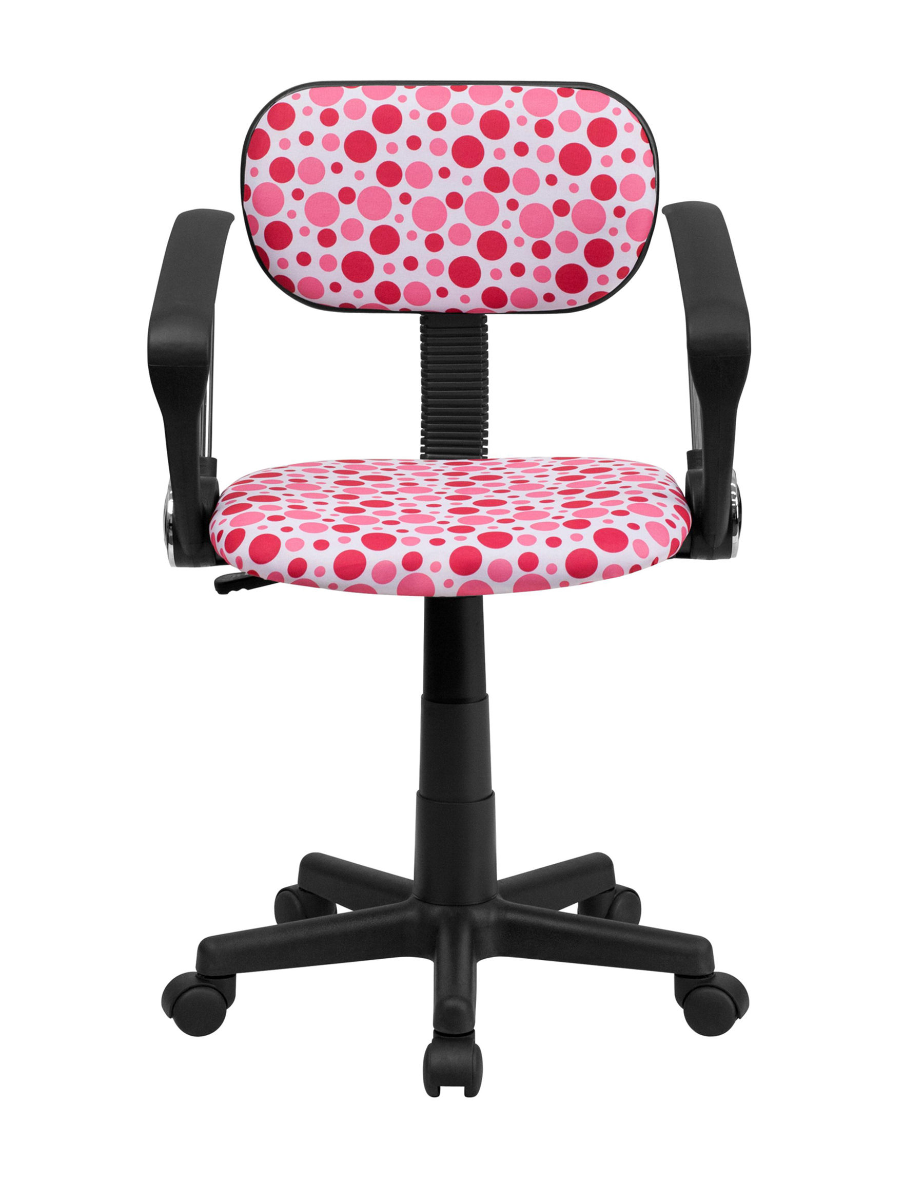 Flash Furniture Pink / Multi Dot Desk Chairs Office Chairs Home Office Furniture