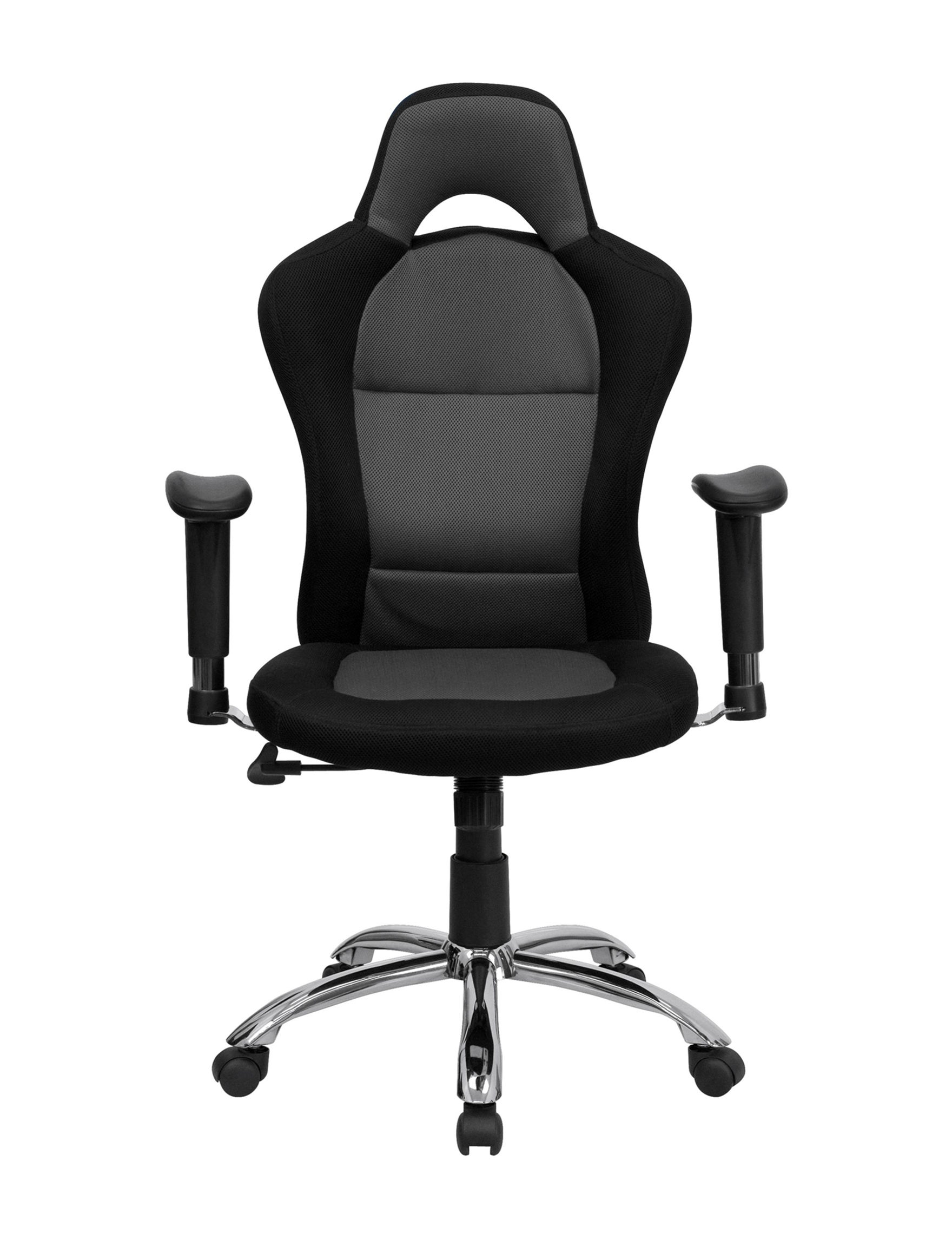 Flash Furniture Black / Grey Desk Chairs Office Chairs Home Office Furniture