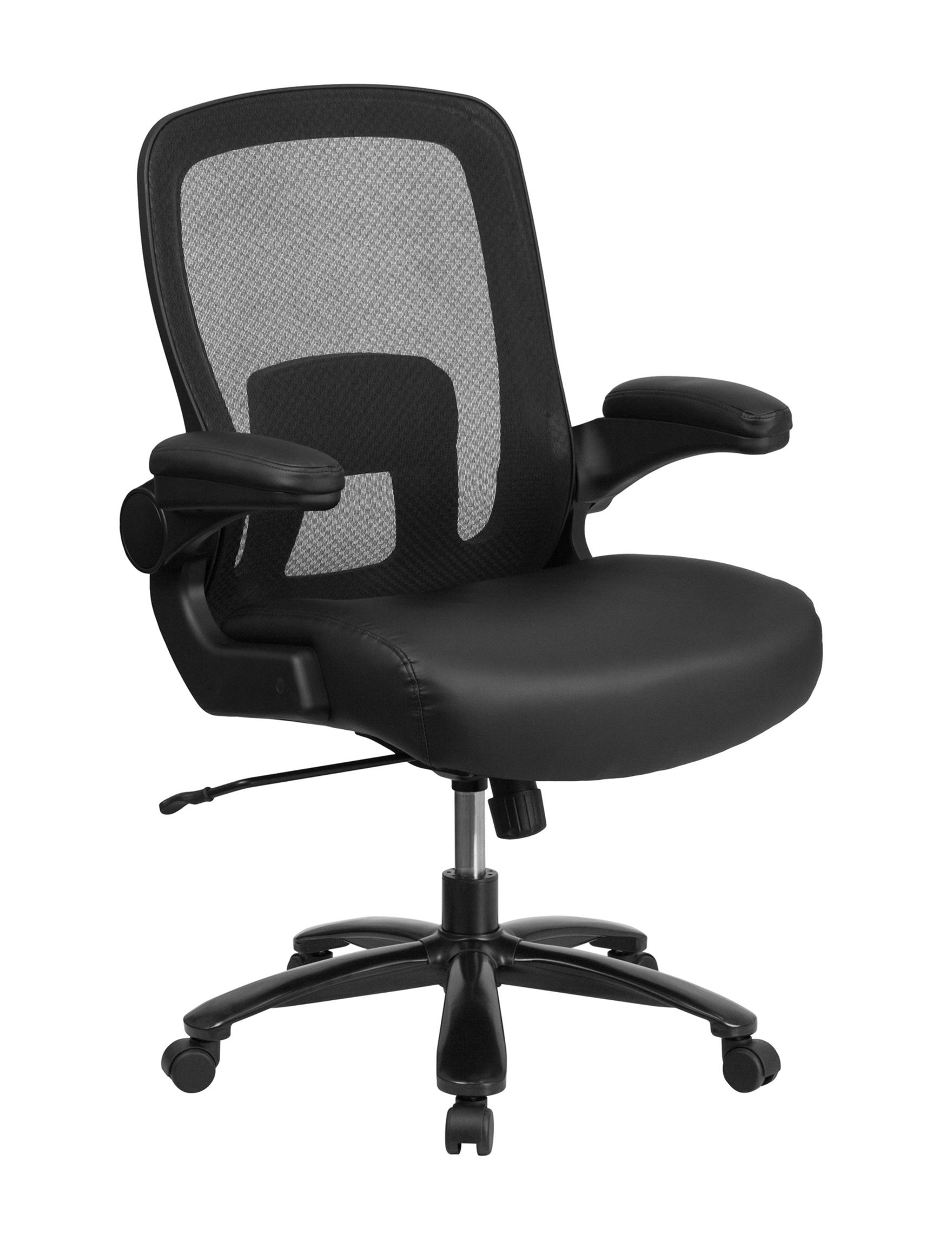 Flash Furniture Black Leather Office Chairs Home Office Furniture