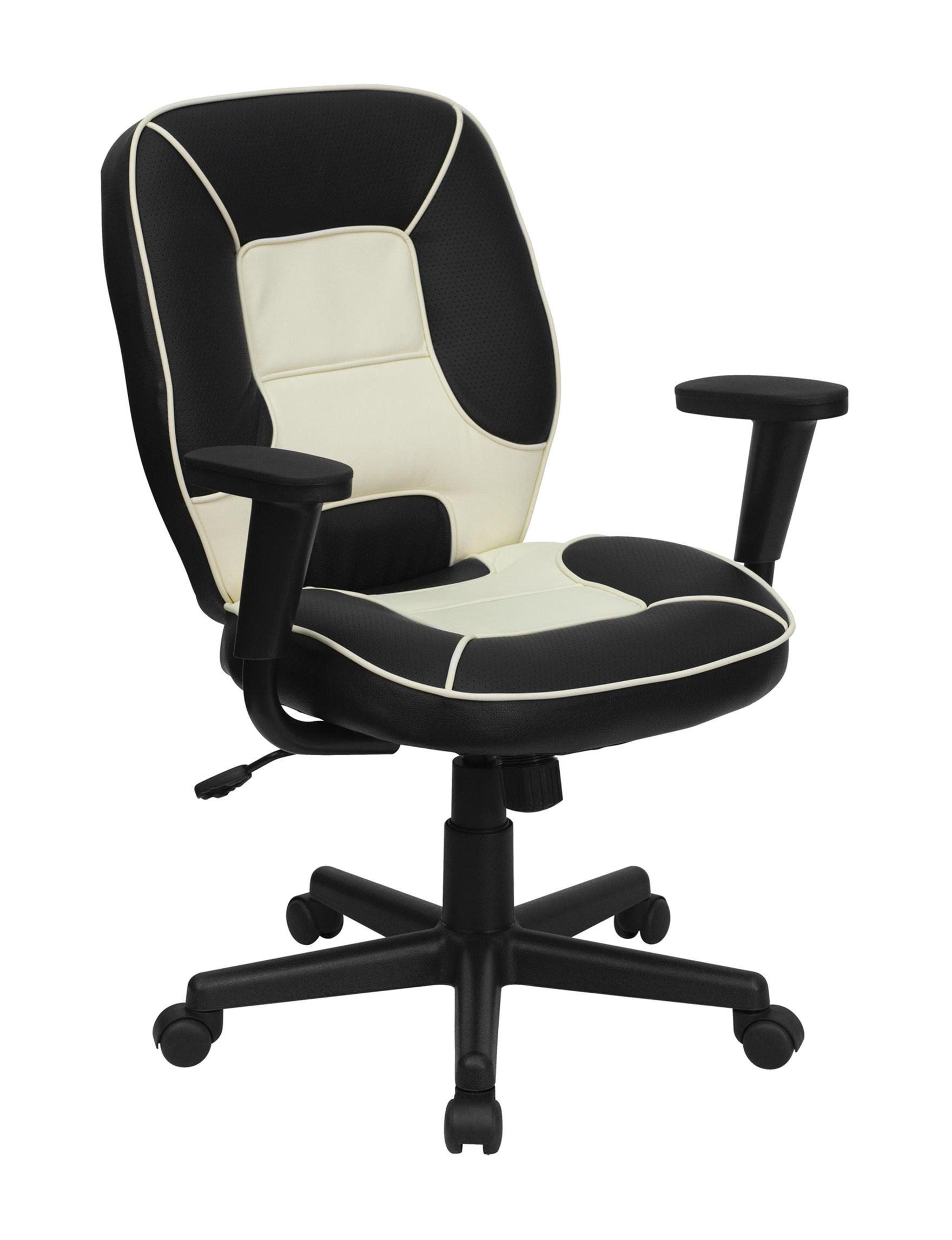 Flash Furniture Black / Cream Home Office Furniture