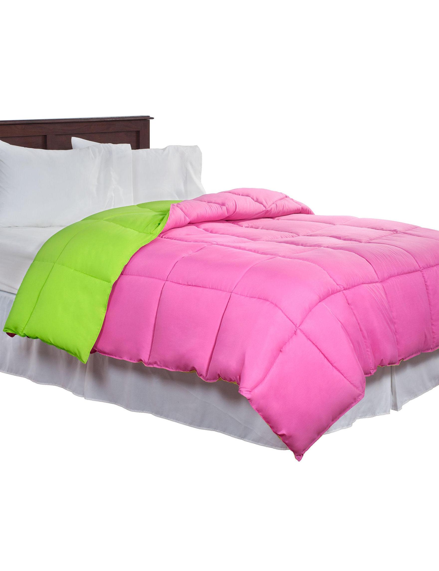 Lavish Home Pink / Green Down & Down Alternative Comforters