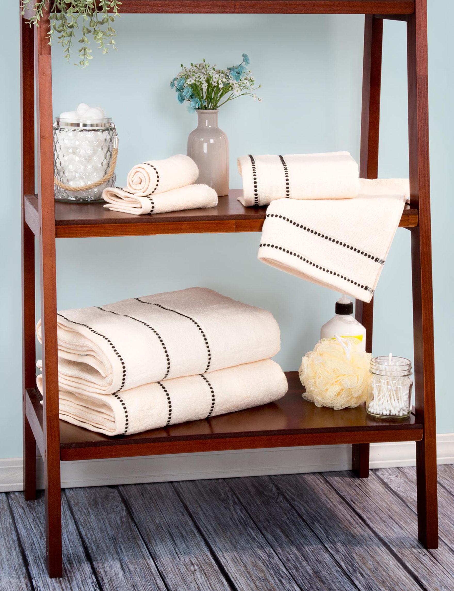 Lavish Home Bone Bath Towels Towel Sets Towels