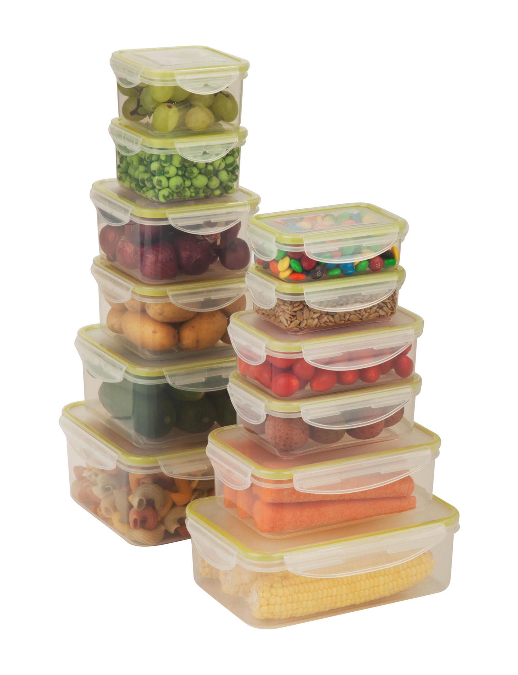 Honey-Can-Do International Clear Food Storage Kitchen Storage & Organization