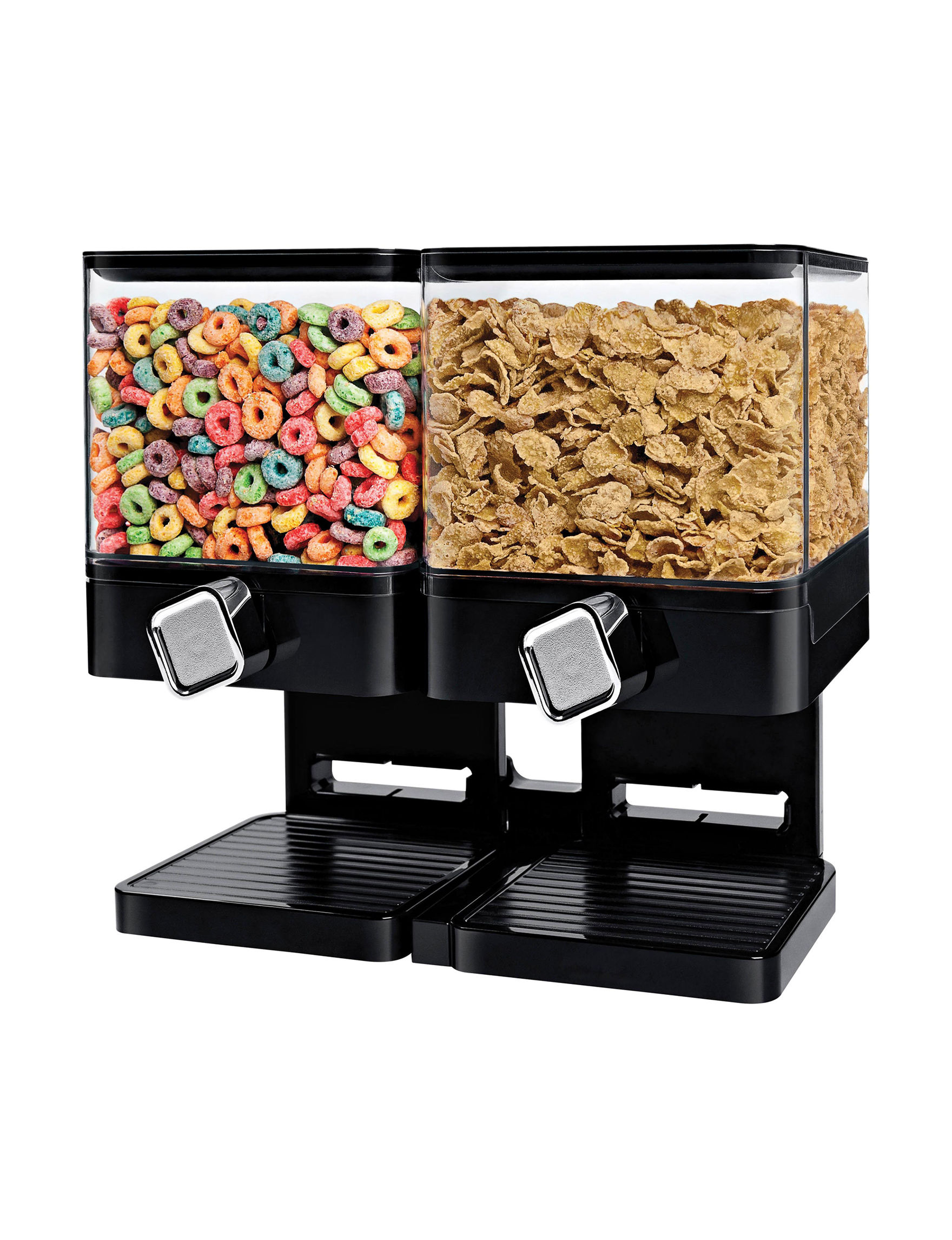 Honey-Can-Do International Black / Silver Food Storage Kitchen Storage & Organization