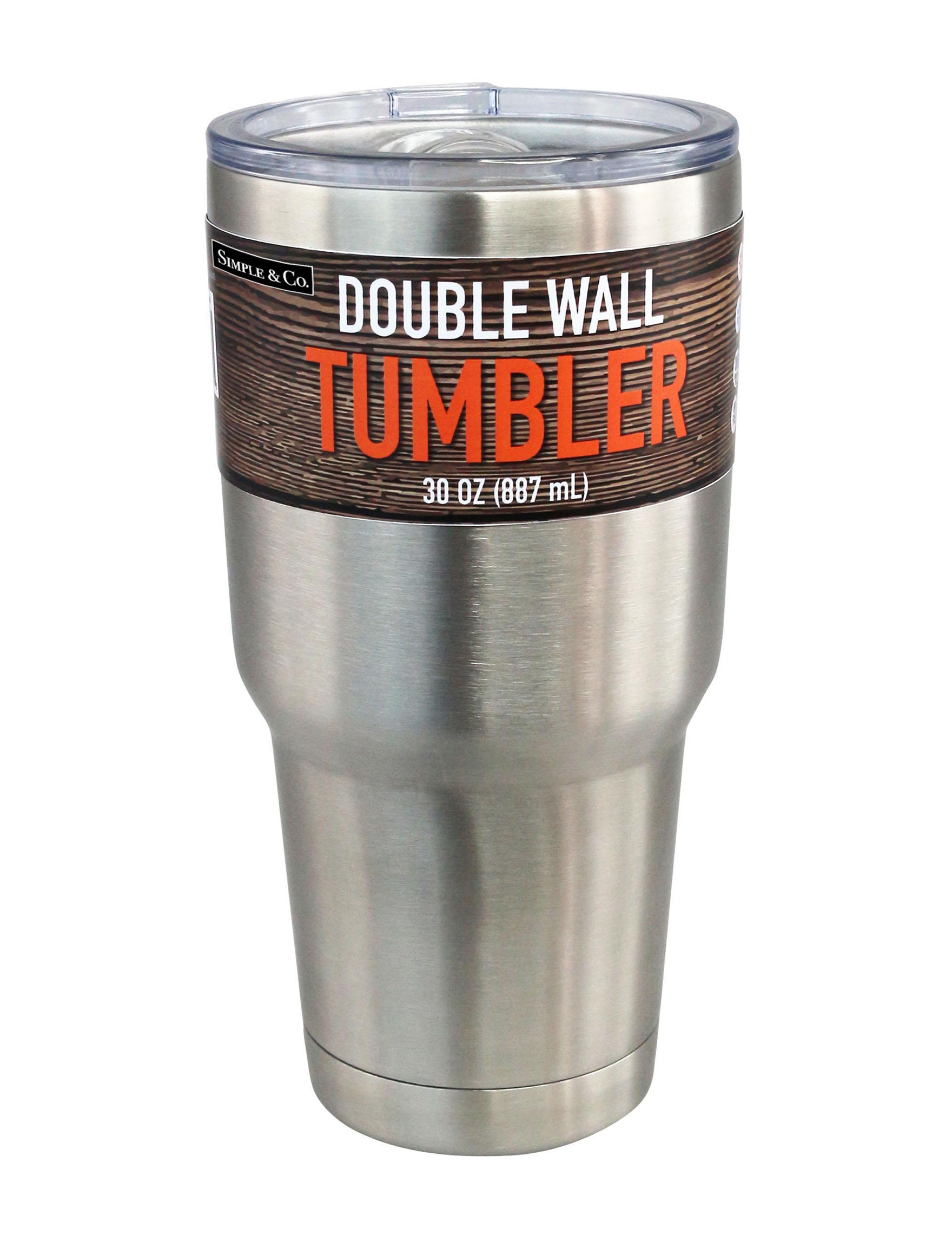 Grand Innovation Silver Tumblers Drinkware