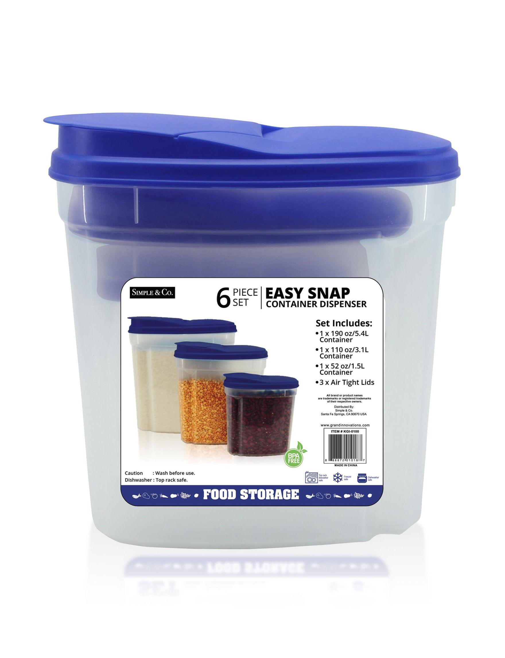 Grand Innovation Blue Food Storage Kitchen Storage & Organization Storage & Organization