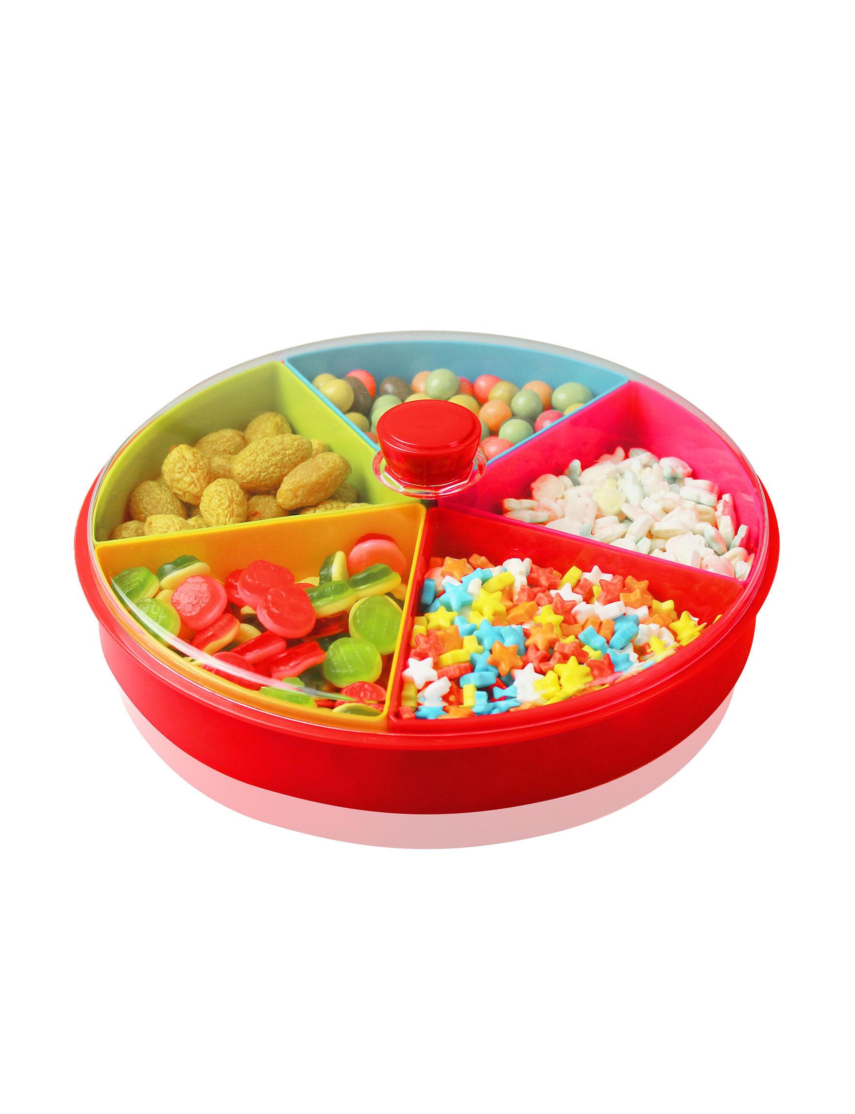 Grand Innovation Red Serving Platters & Trays Serveware