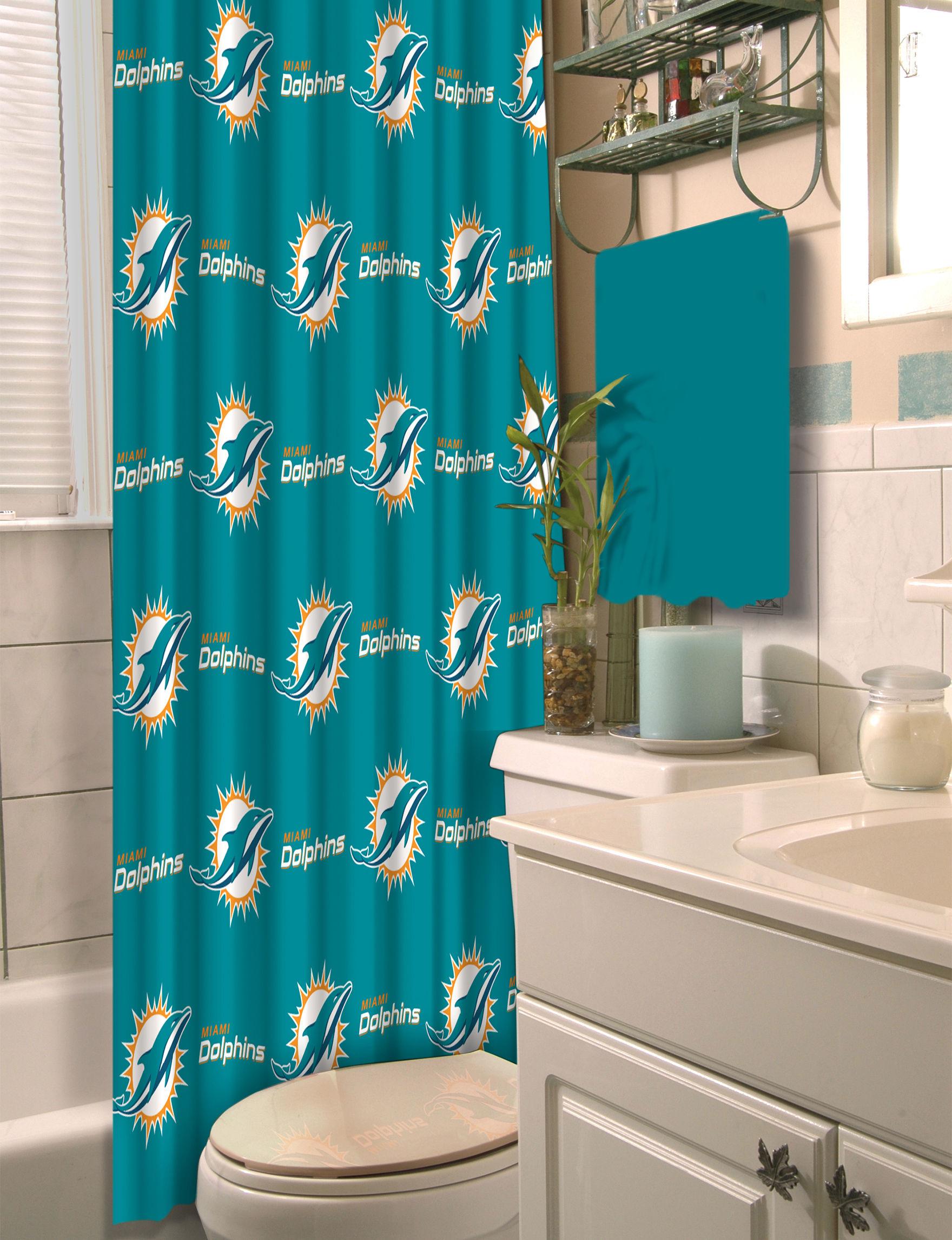 The Northwest Company Blue / Multi Shower Curtains & Hooks