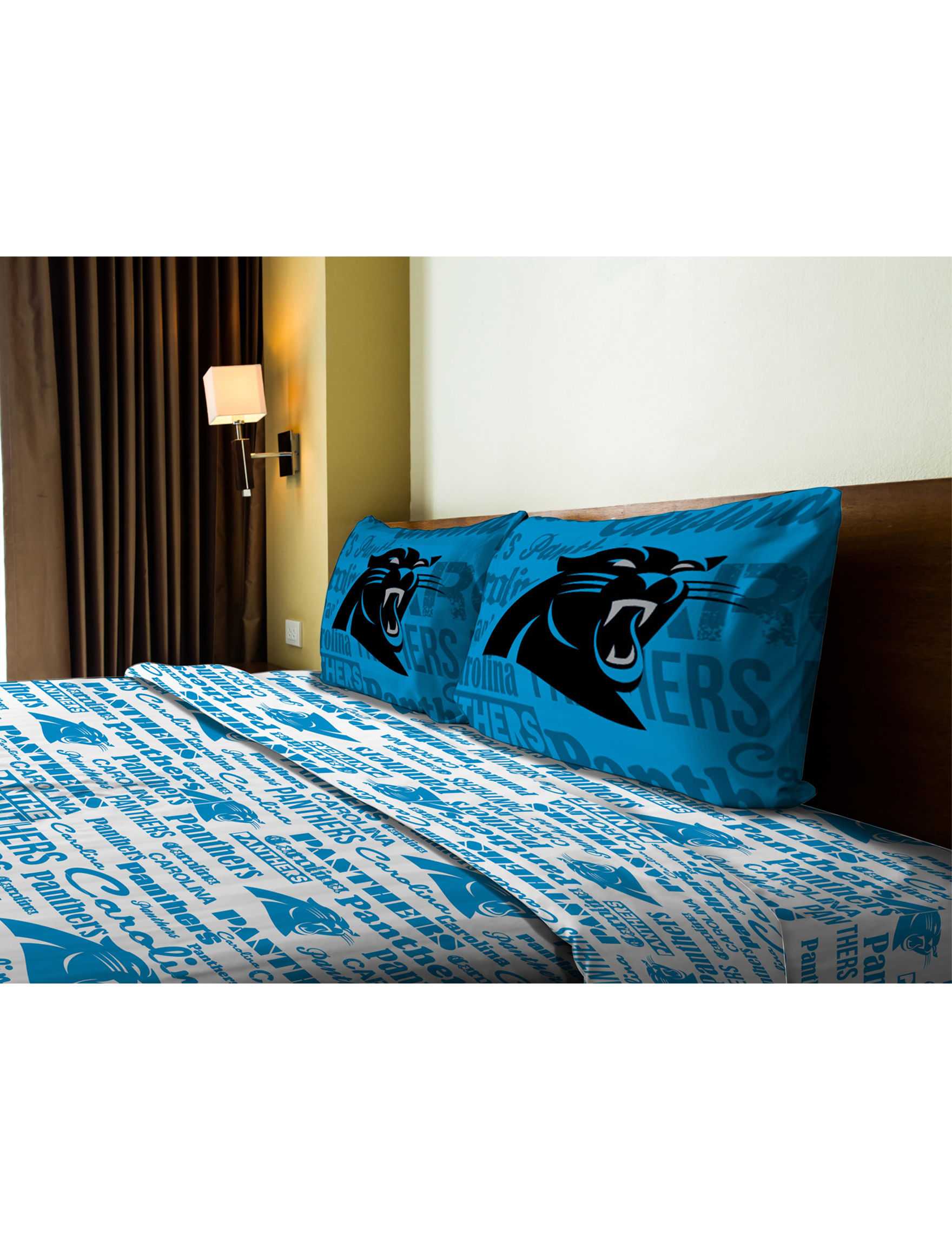 The Northwest Company Blue / White / Black Sheets & Pillowcases