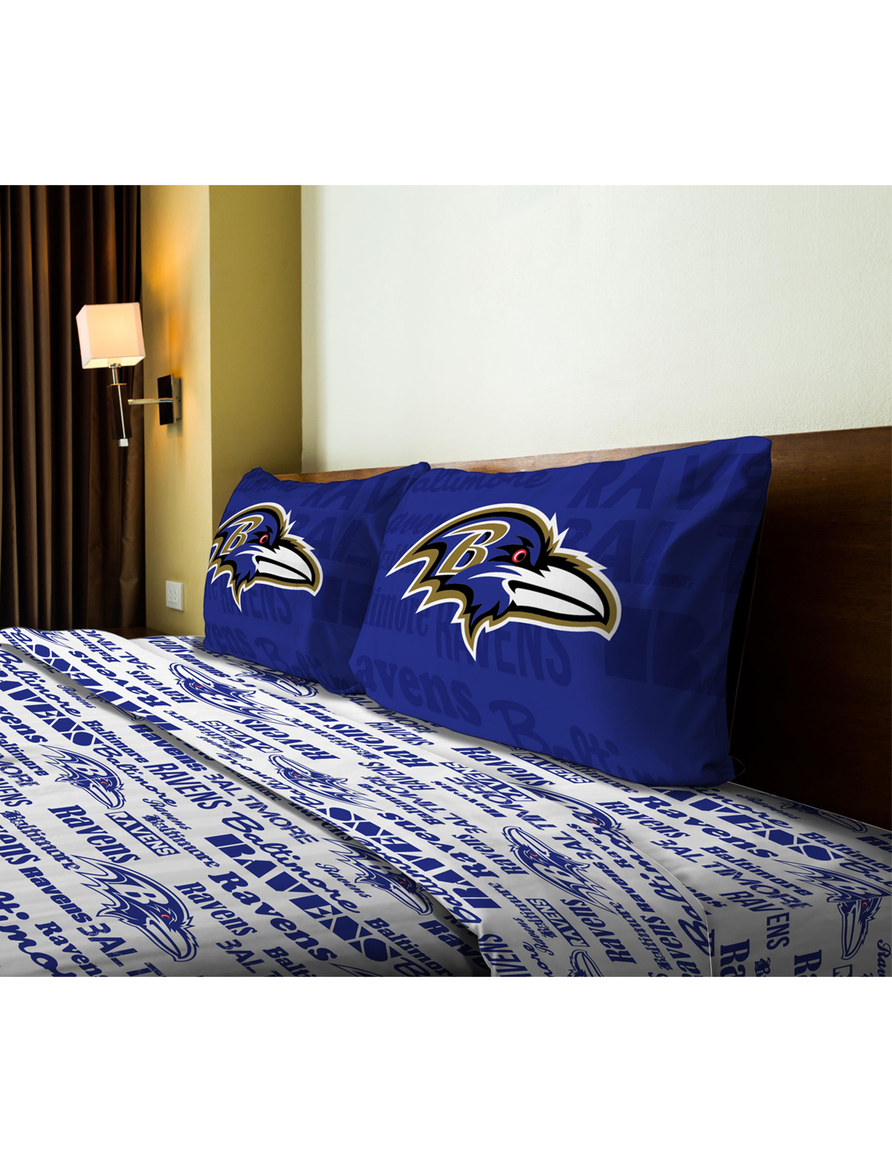 The Northwest Company Blue / White Sheets & Pillowcases