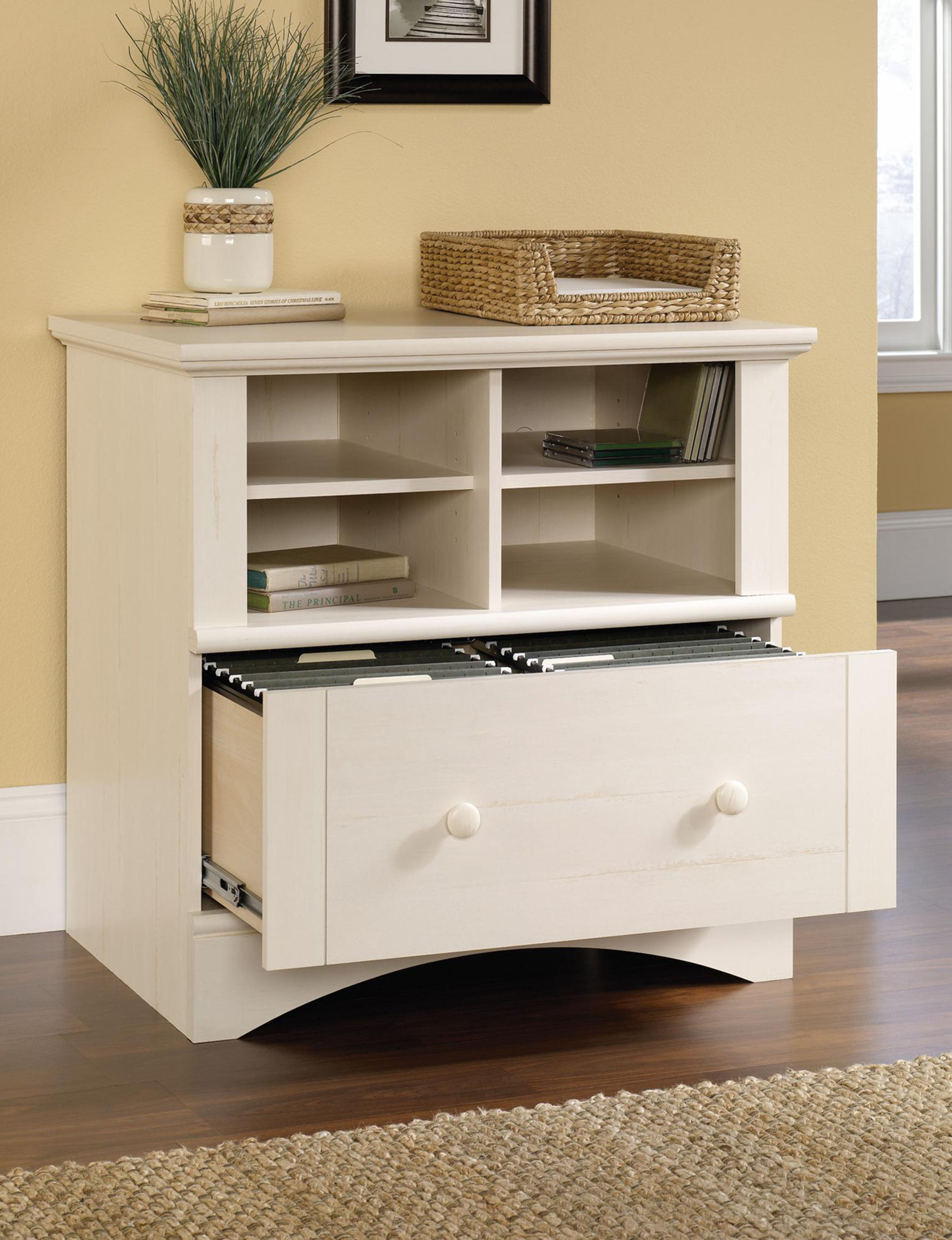 Sauder White Filing Cabinets Home Office Furniture