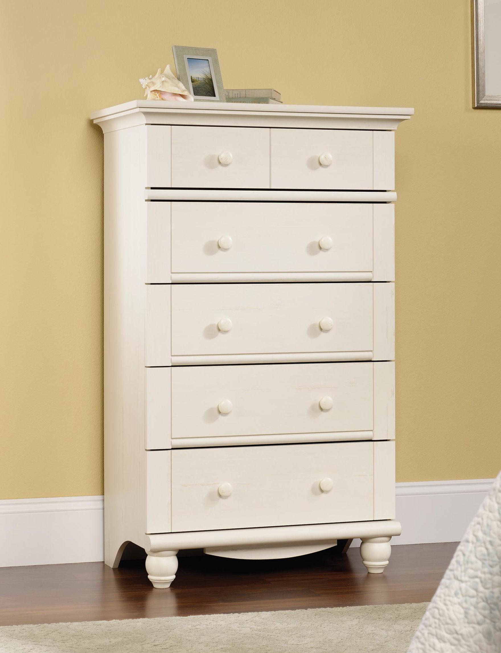 Sauder White Dressers & Chests Bedroom Furniture
