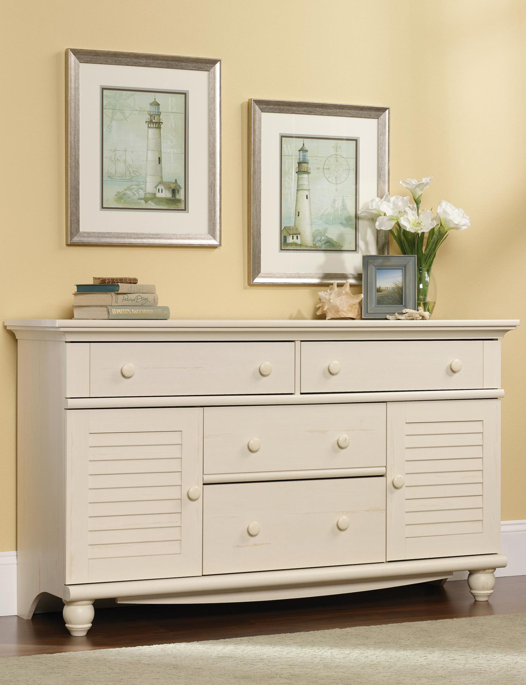Sauder White Dressers & Chests Bedroom Furniture