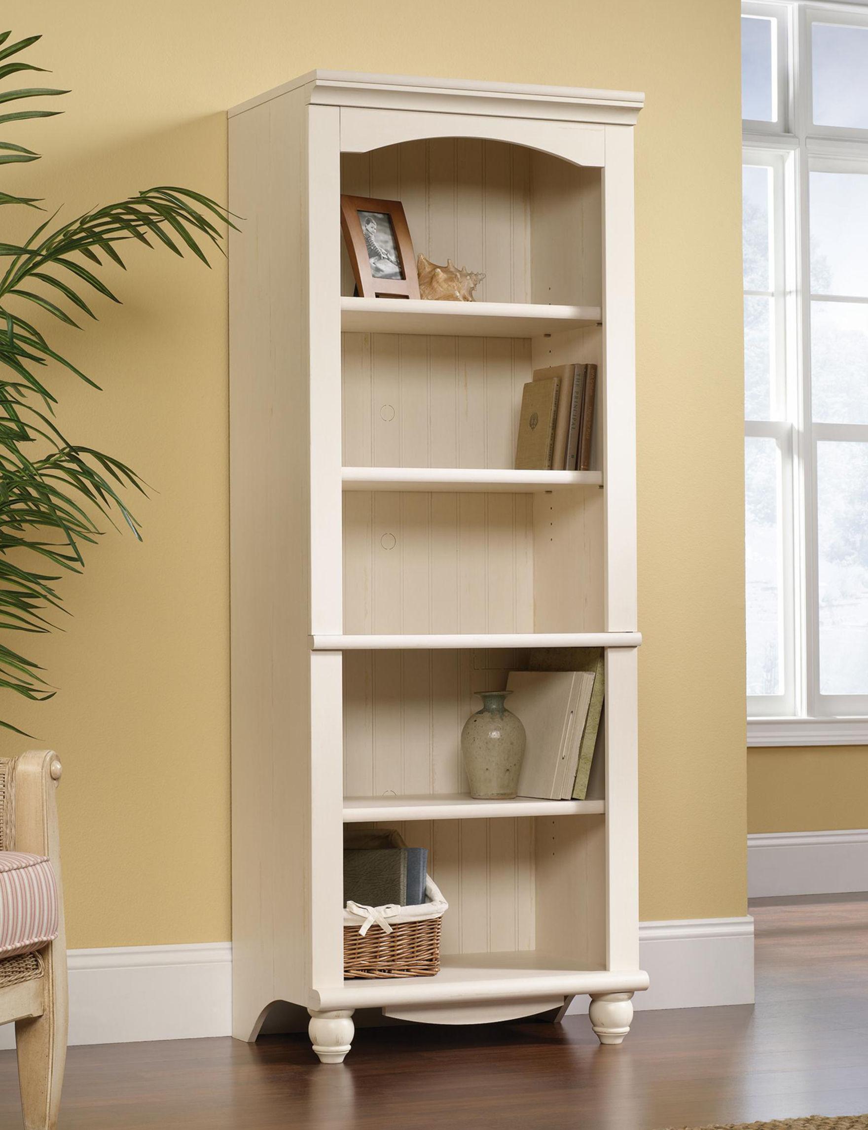 Sauder White Bookcases & Shelves Bedroom Furniture Entryway Furniture Home Office Furniture Living Room Furniture
