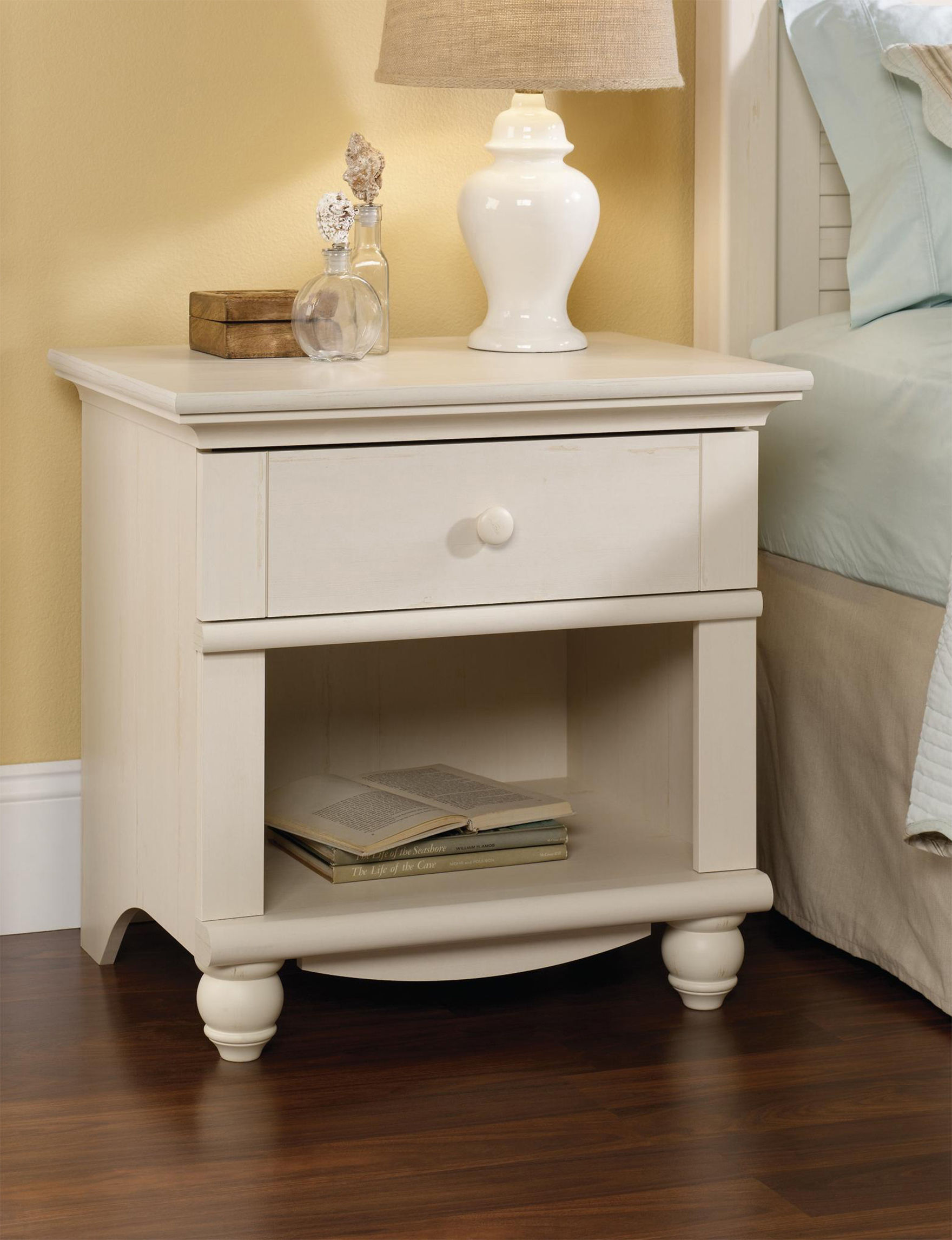 Sauder White Accent & End Tables Night Stands Bedroom Furniture Entryway Furniture Living Room Furniture