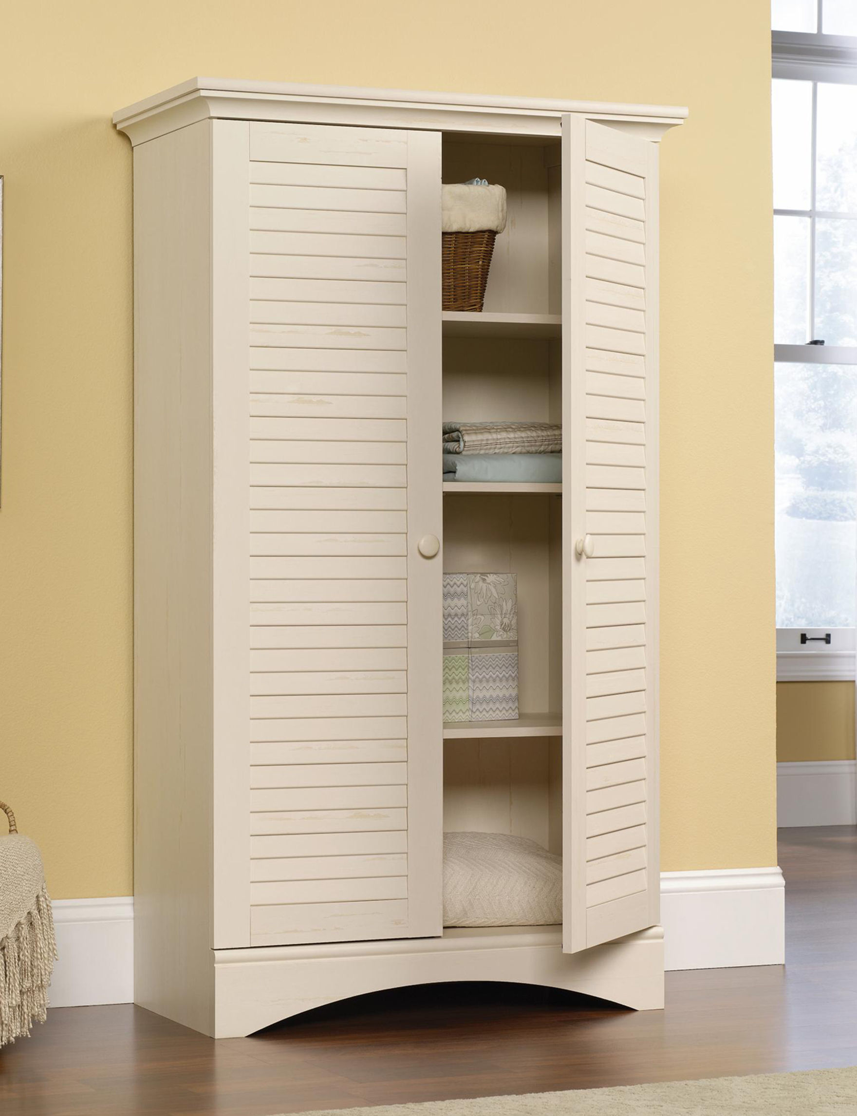 Sauder White Bookcases & Shelves Storage Shelves Bedroom Furniture Home Office Furniture Living Room Furniture