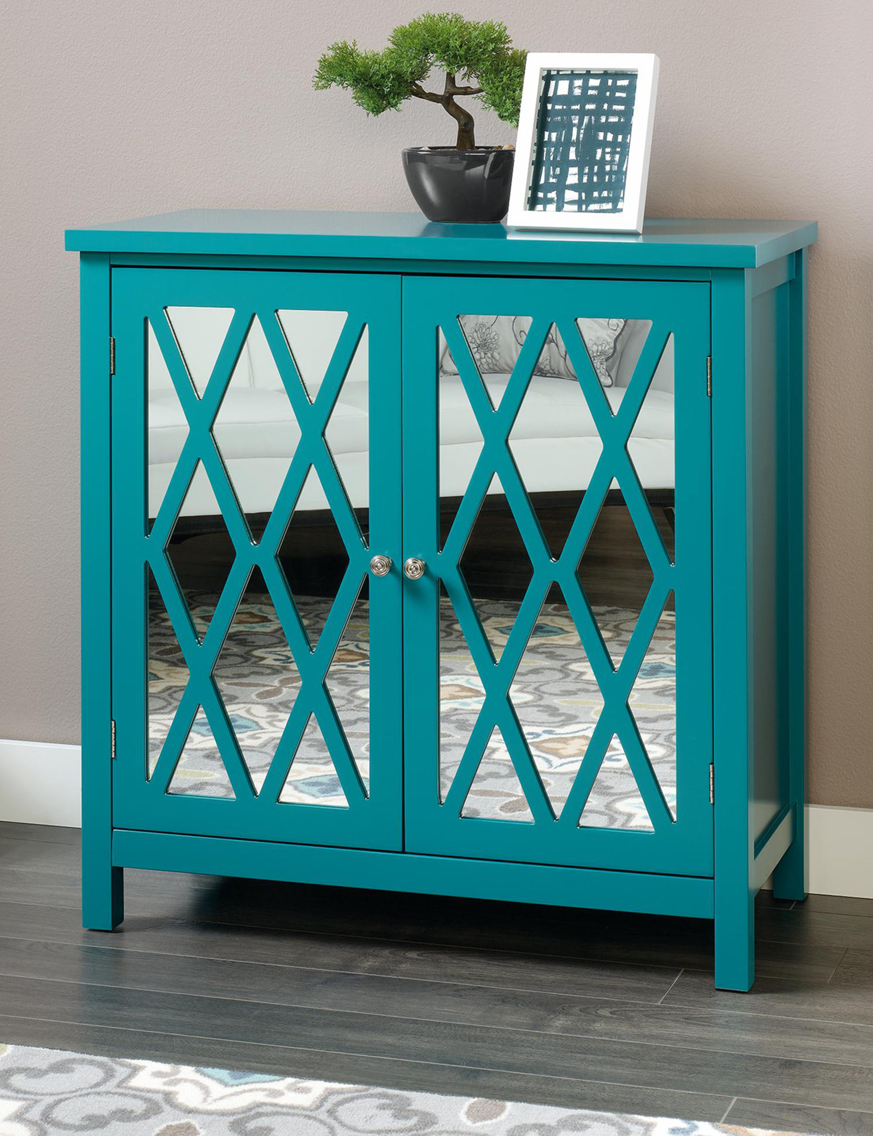 Sauder Teal Cabinets & Cupboards Living Room Furniture