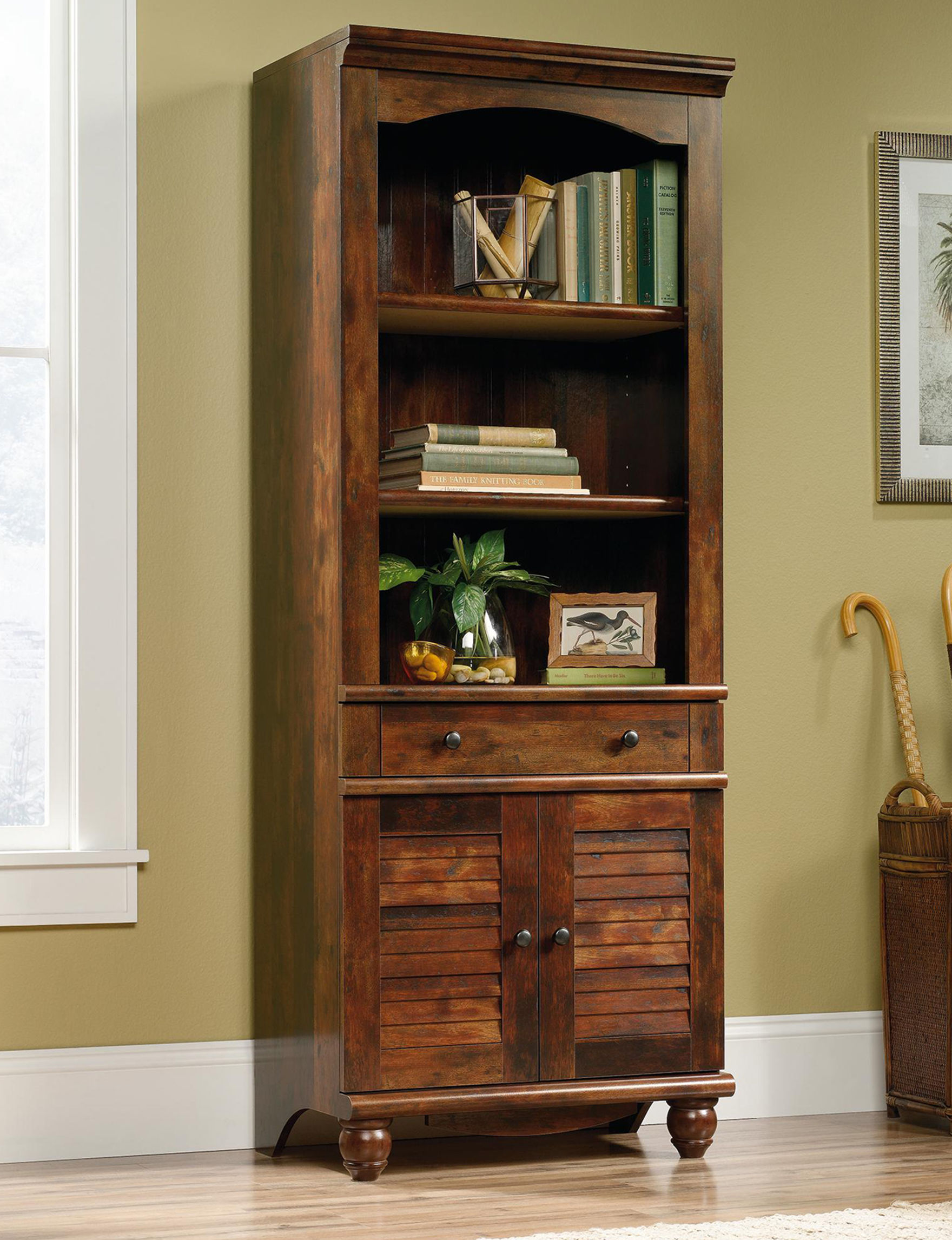 Sauder Cherry Bookcases & Shelves Cabinets & Cupboards Home Office Furniture Living Room Furniture