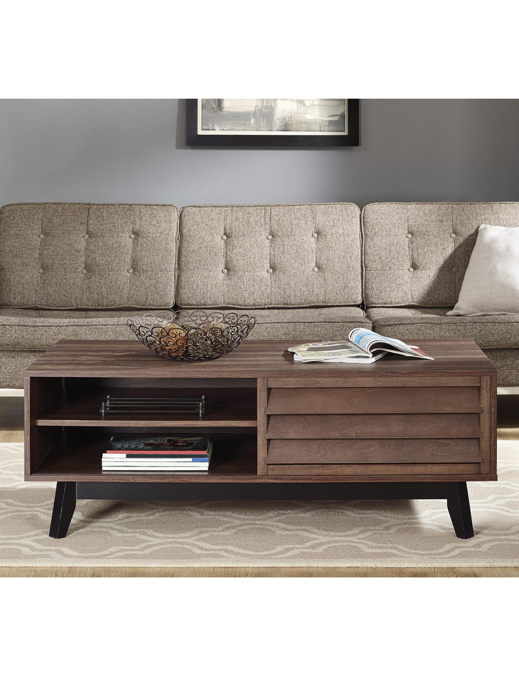 Ameriwood Dark Brown Accent & End Tables Coffee Tables Living Room Furniture