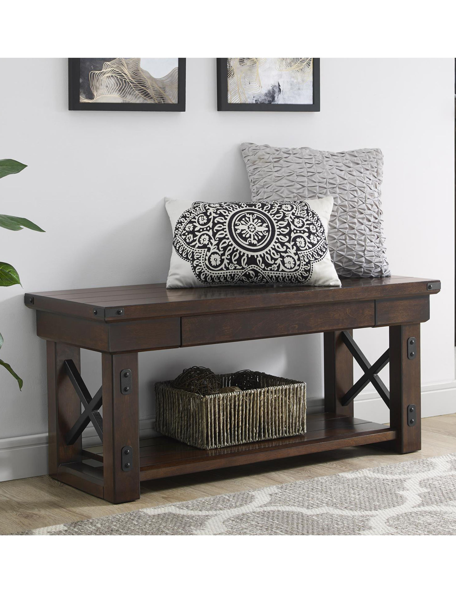 Ameriwood Espresso Ottomans & Benches Entryway Furniture