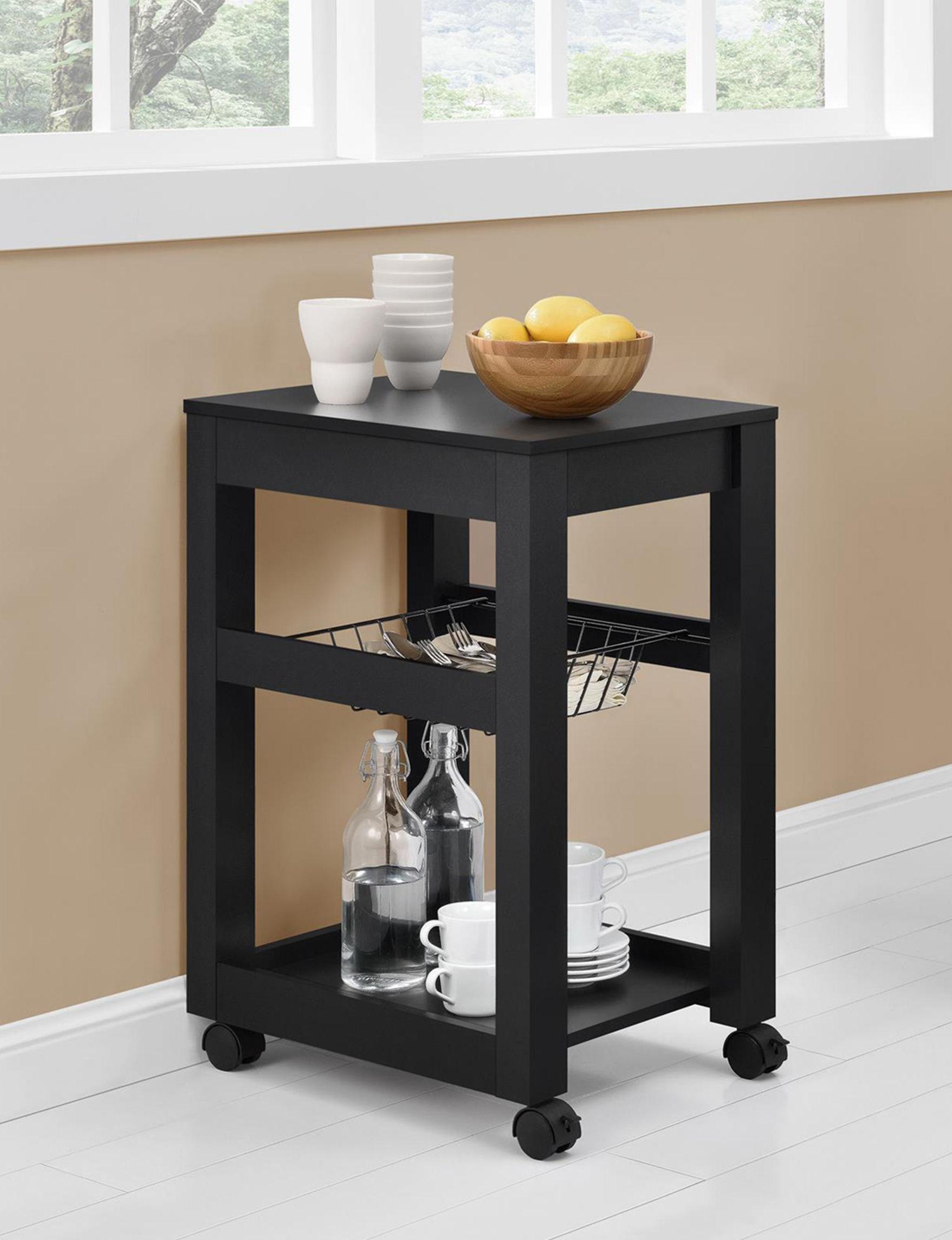 Ameriwood Black Kitchen Islands & Carts Living Room Furniture
