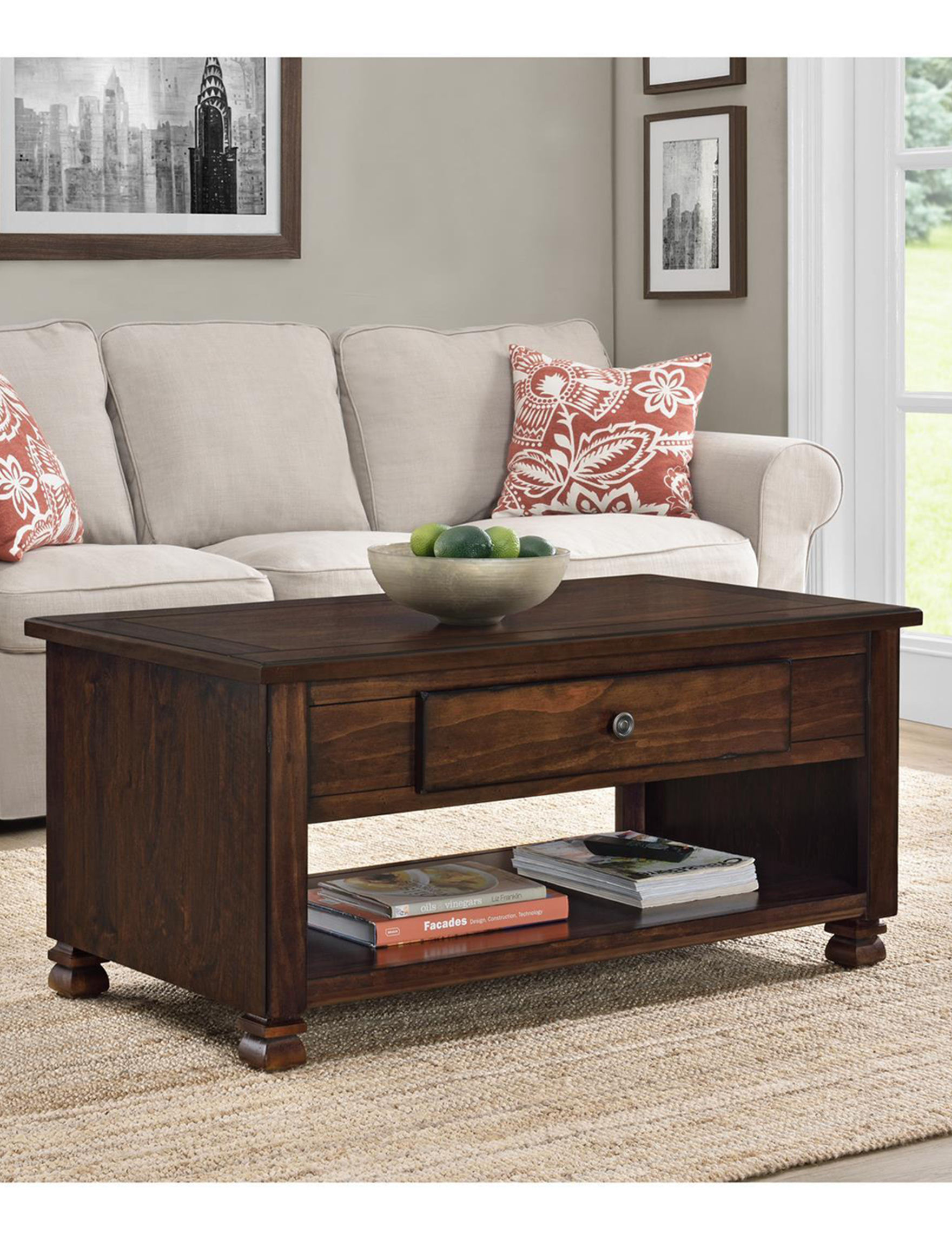 Ameriwood Espresso Coffee Tables Living Room Furniture