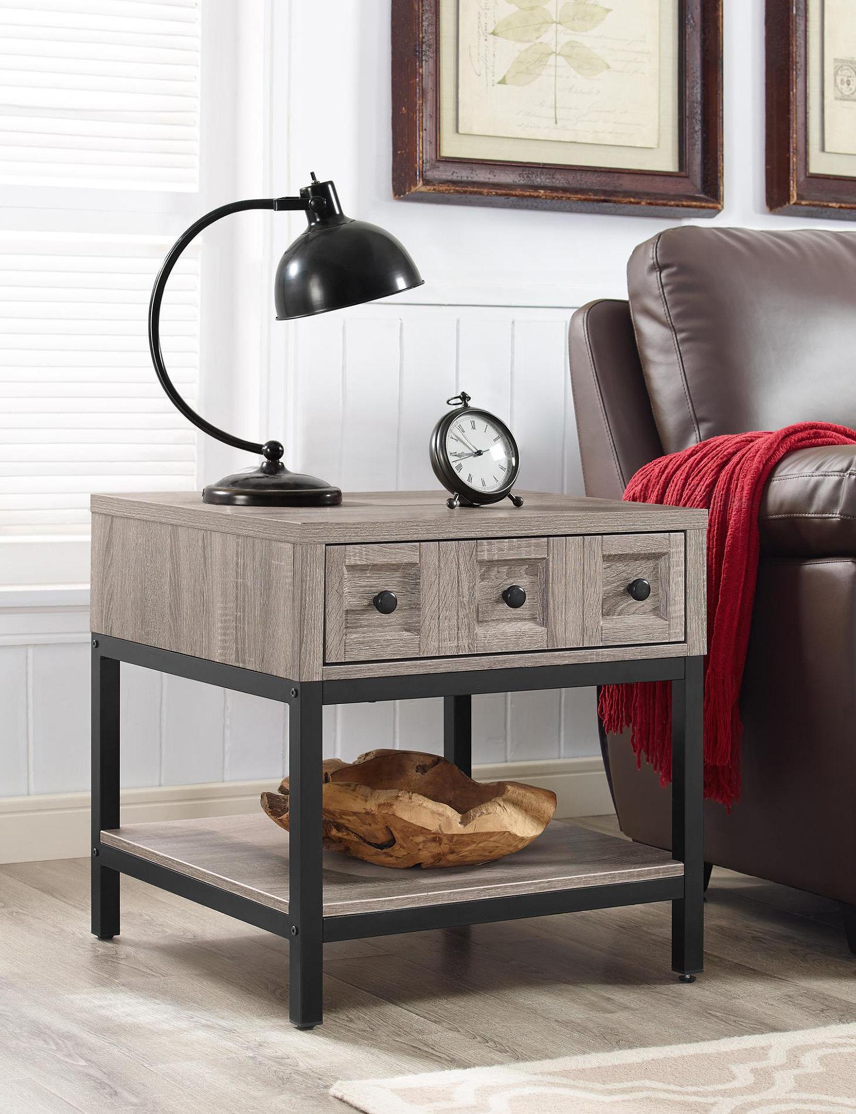Ameriwood Oak Grey Accent & End Tables Living Room Furniture