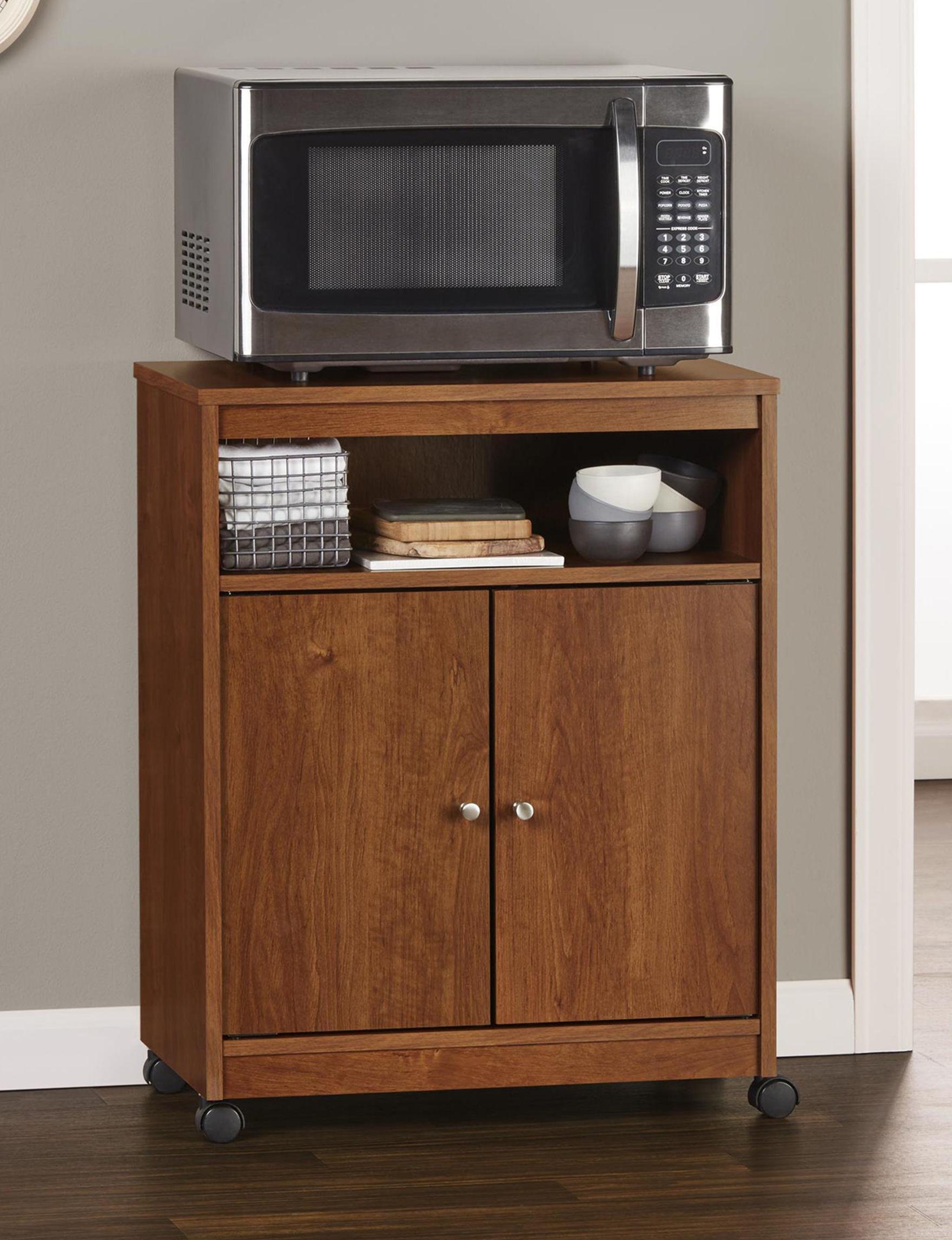 Ameriwood Brown Kitchen Islands & Carts Kitchen & Dining Furniture