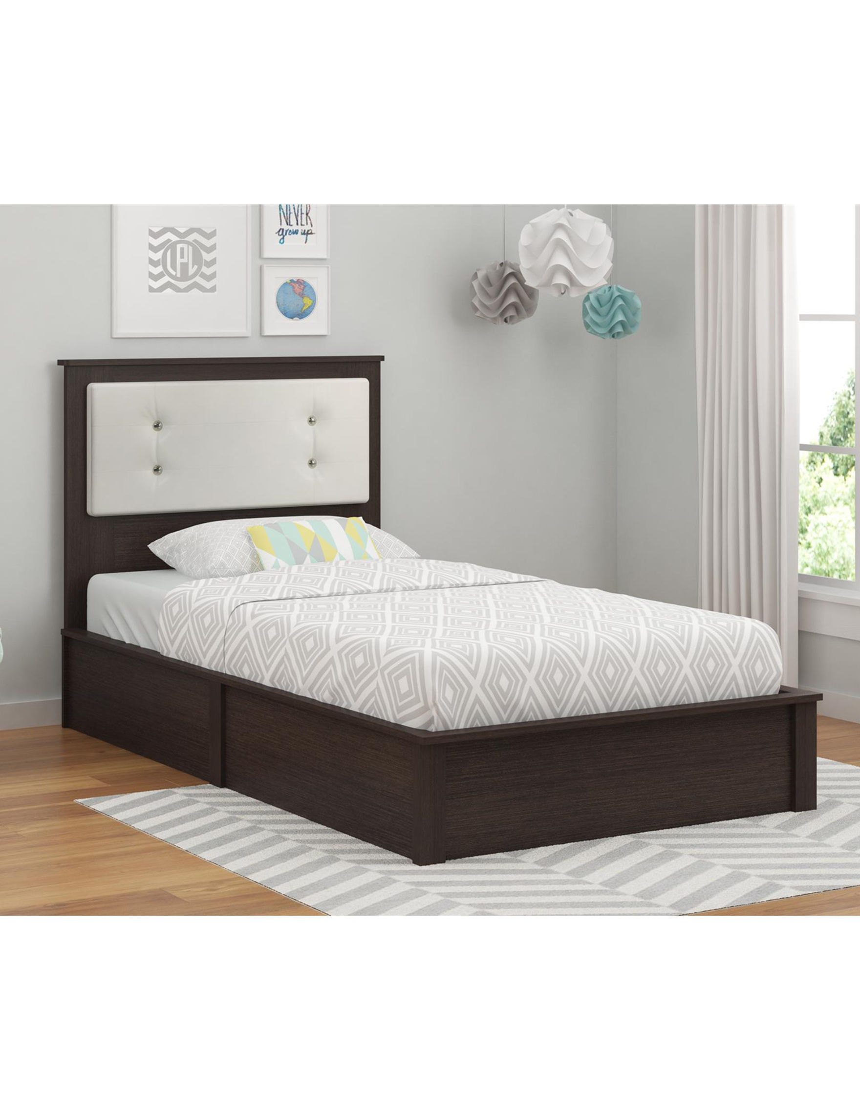 Ameriwood Brown / White Beds & Headboards Bedroom Furniture