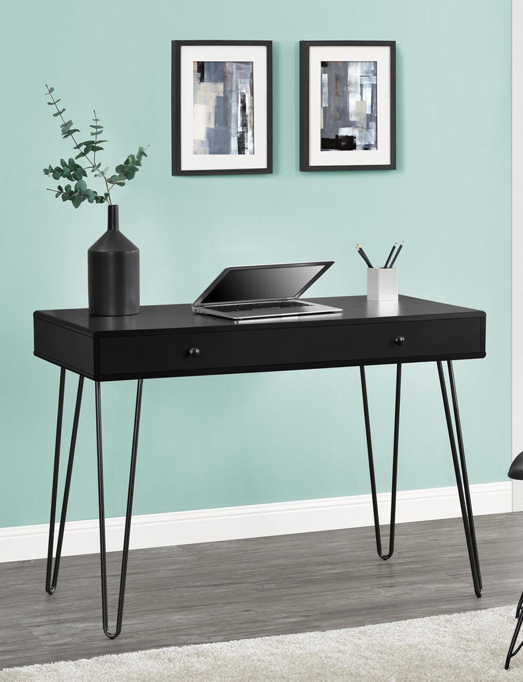 Ameriwood Black Desks Home Office Furniture Living Room Furniture