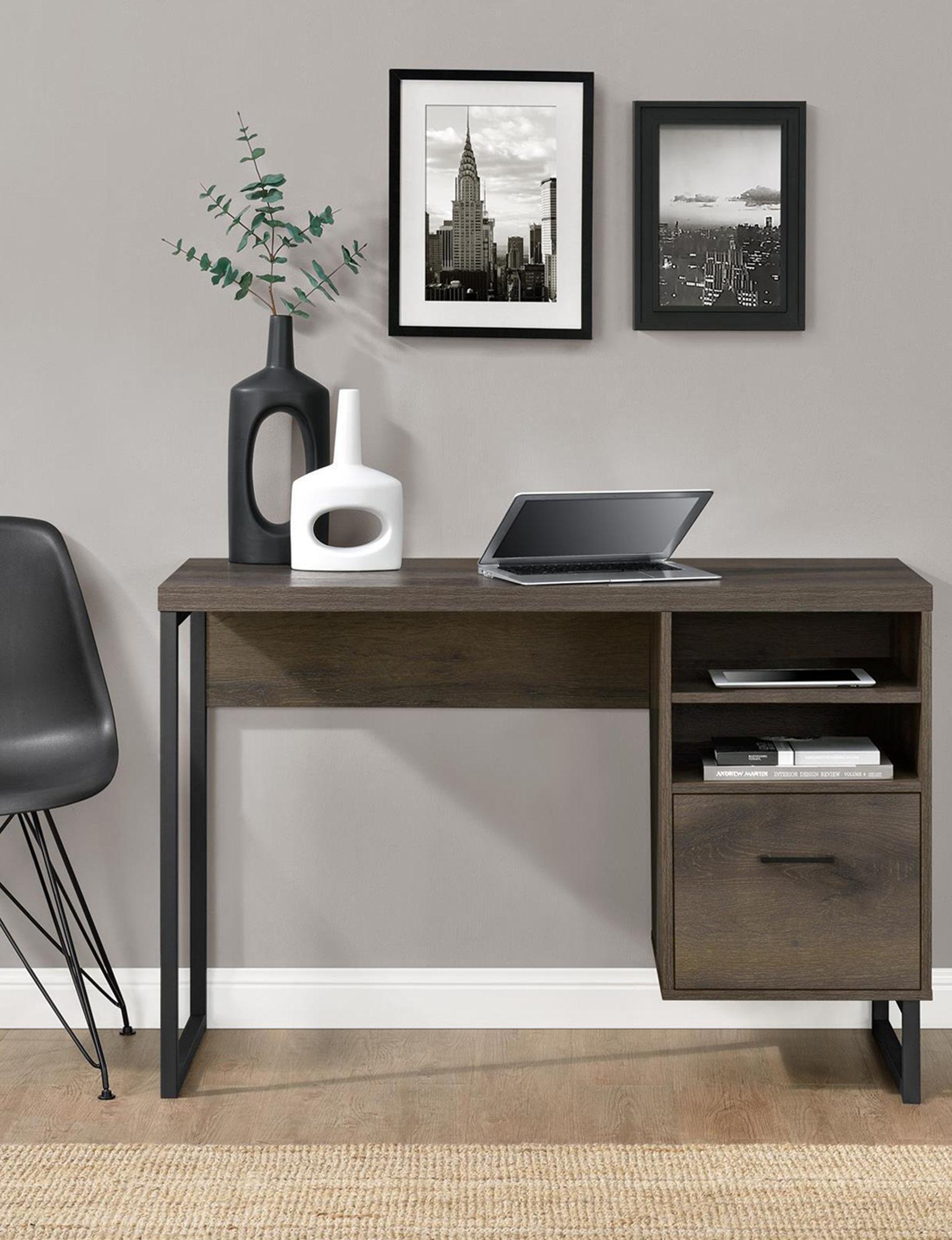 Ameriwood Brown Desks Home Office Furniture Living Room Furniture