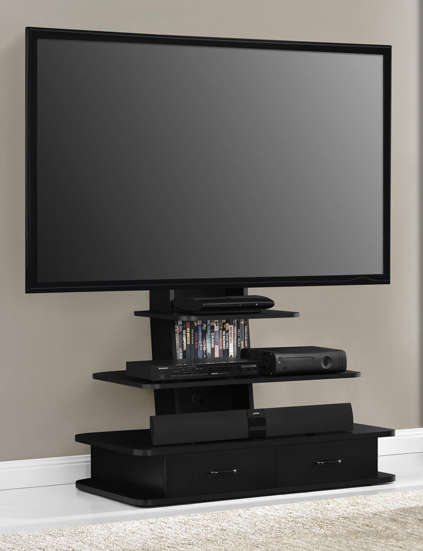 Ameriwood Black TV Stands & Entertainment Centers Living Room Furniture