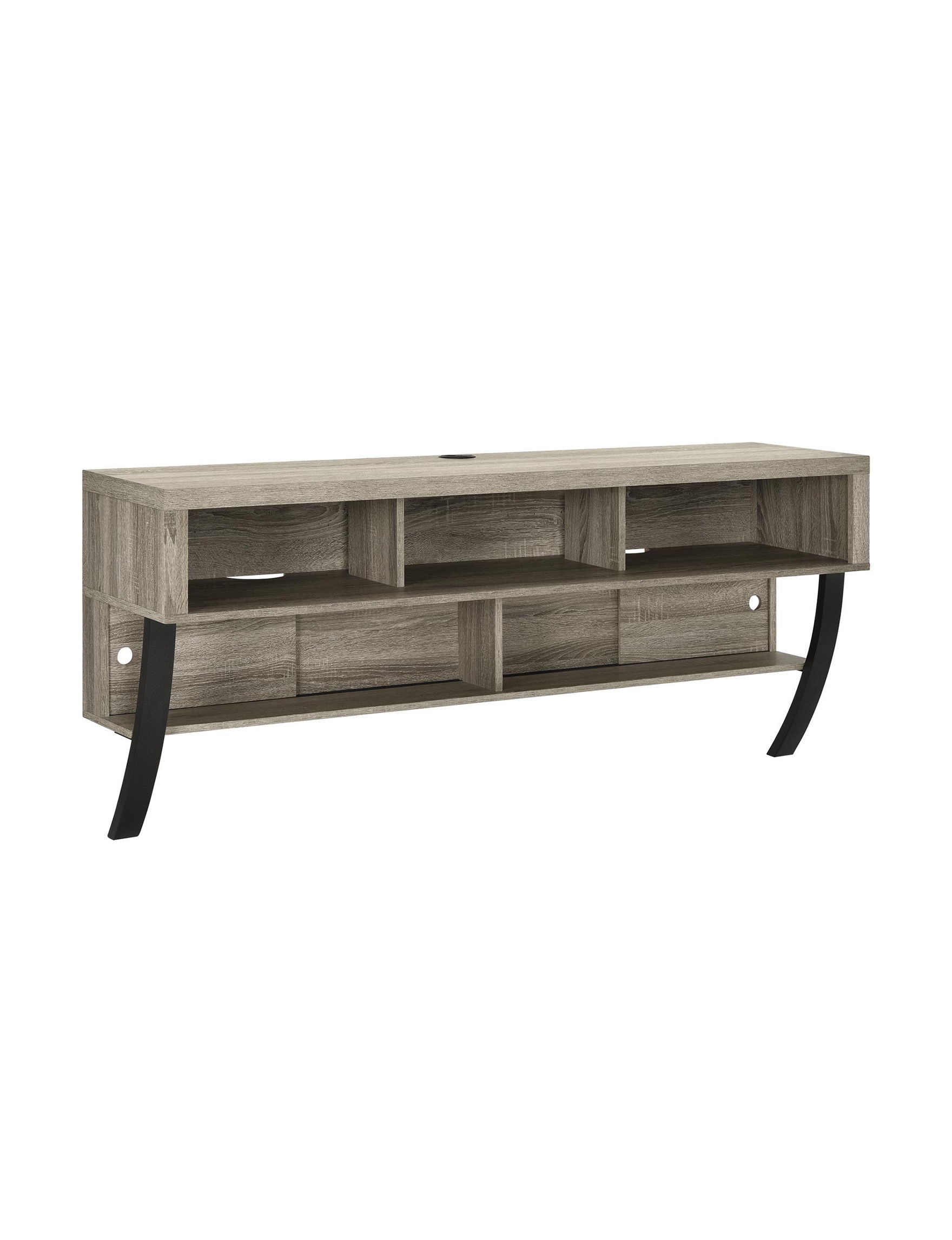 Ameriwood Oak Grey TV Stands & Entertainment Centers Living Room Furniture
