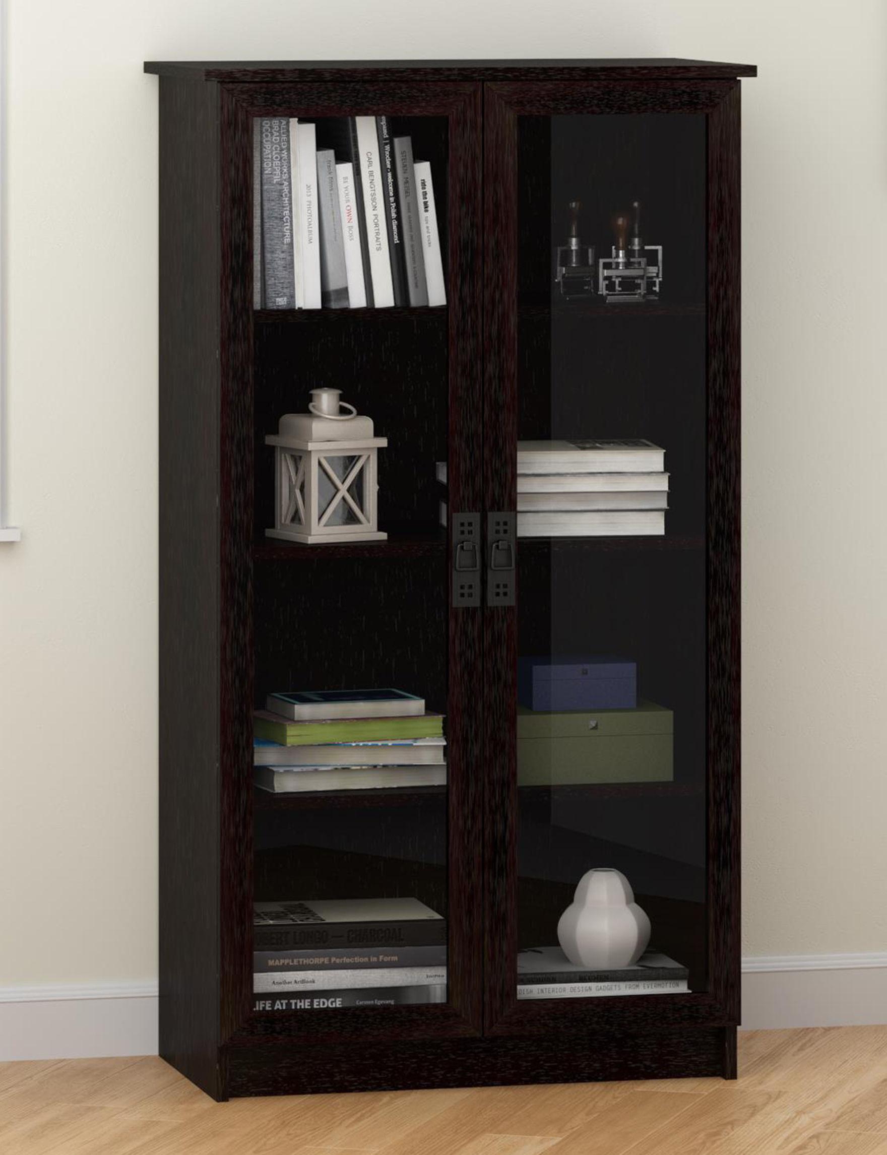 Ameriwood Espresso Bookcases & Shelves Living Room Furniture