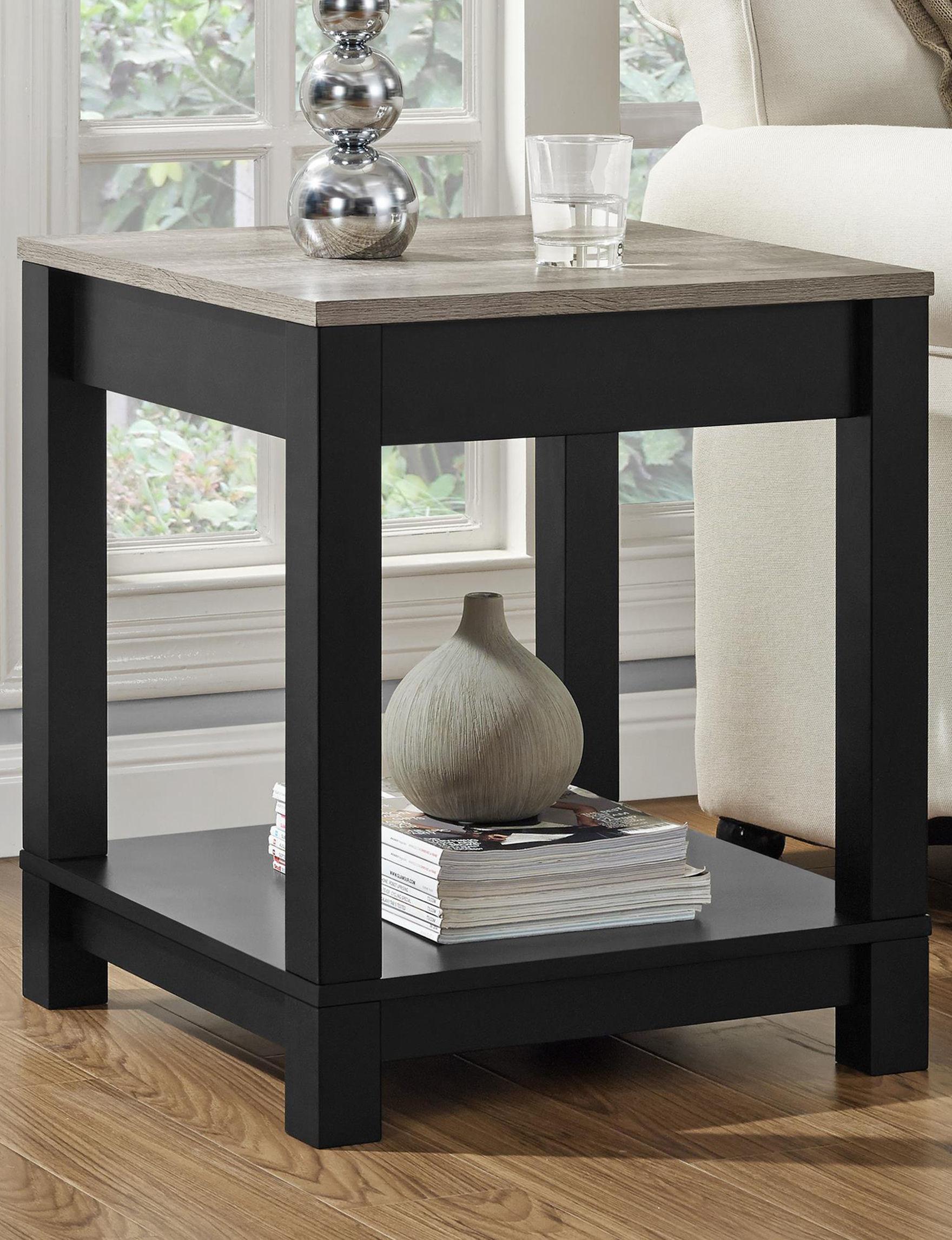 Ameriwood Black Accent & End Tables Living Room Furniture