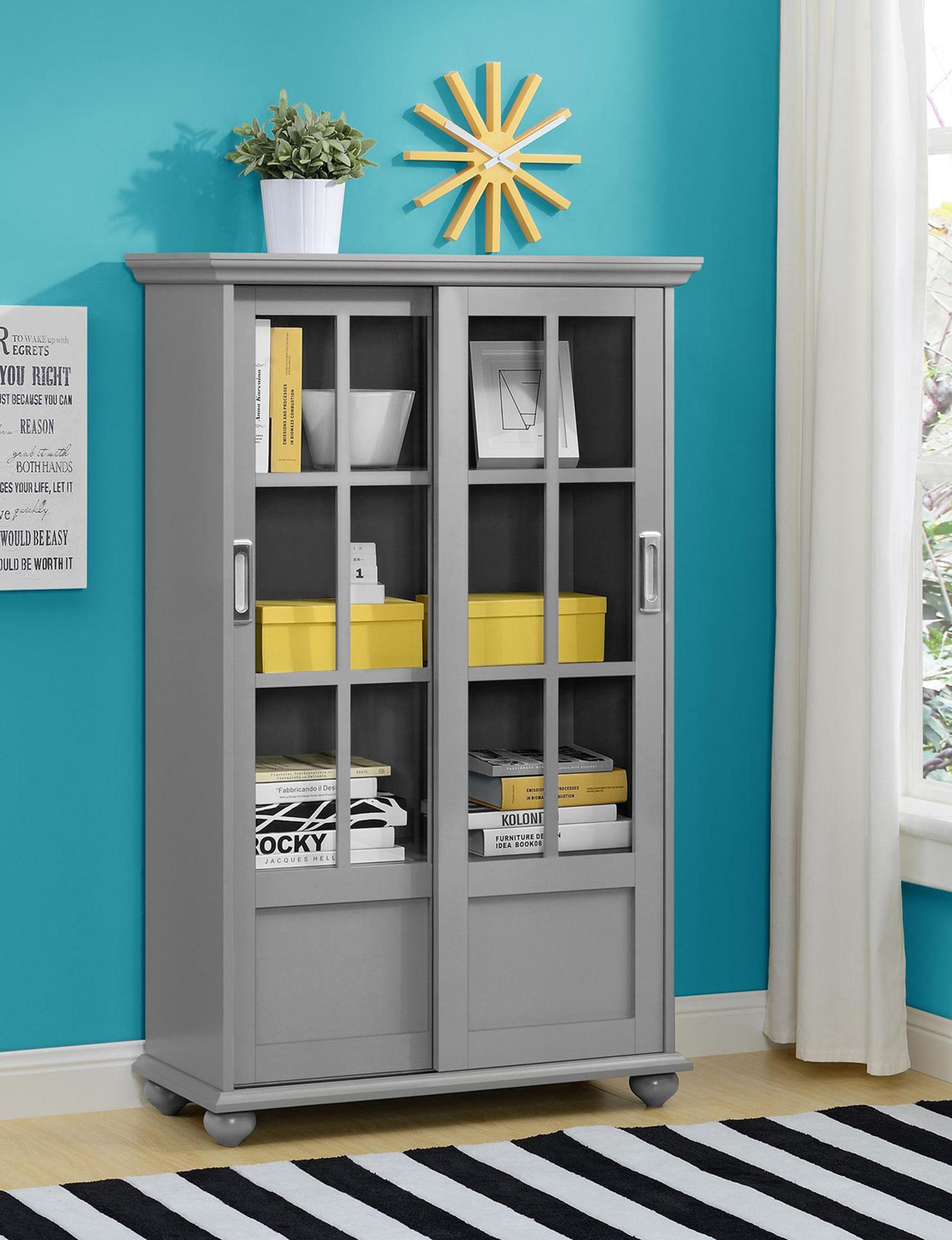 Ameriwood Grey Bookcases & Shelves Home Office Furniture Living Room Furniture