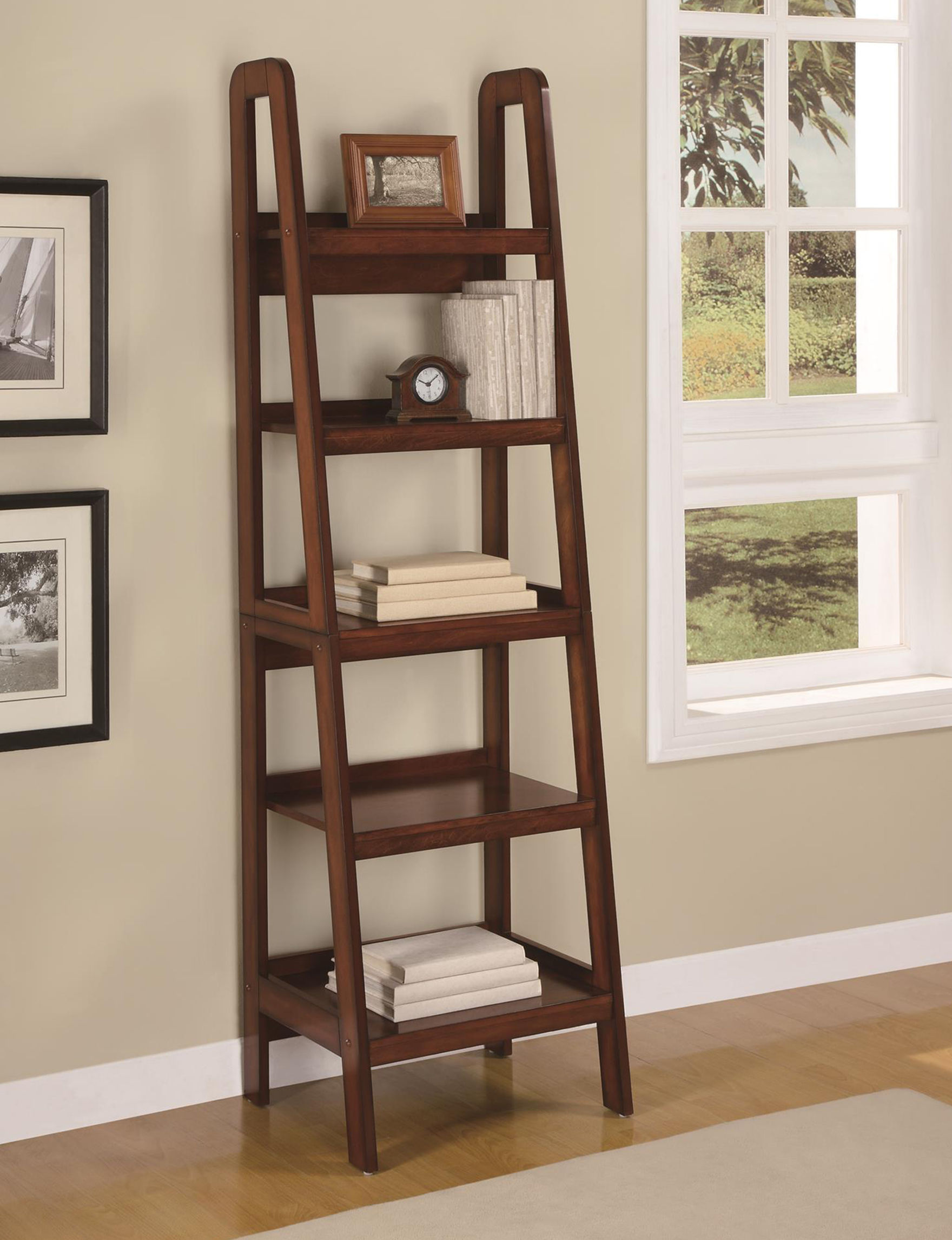 Ameriwood Espresso Bookcases & Shelves Home Office Furniture Living Room Furniture