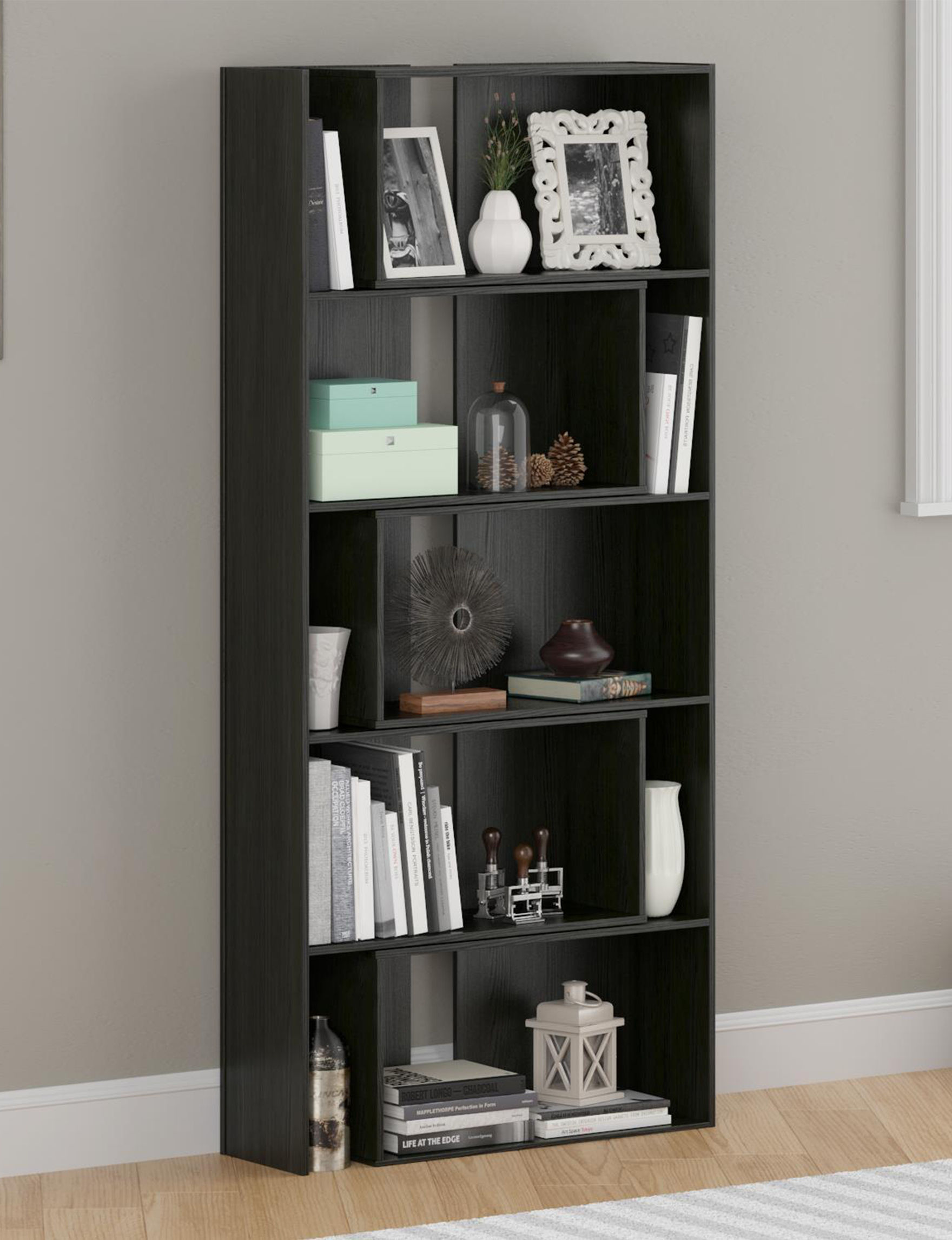 Ameriwood Black Bookcases & Shelves Home Office Furniture Living Room Furniture