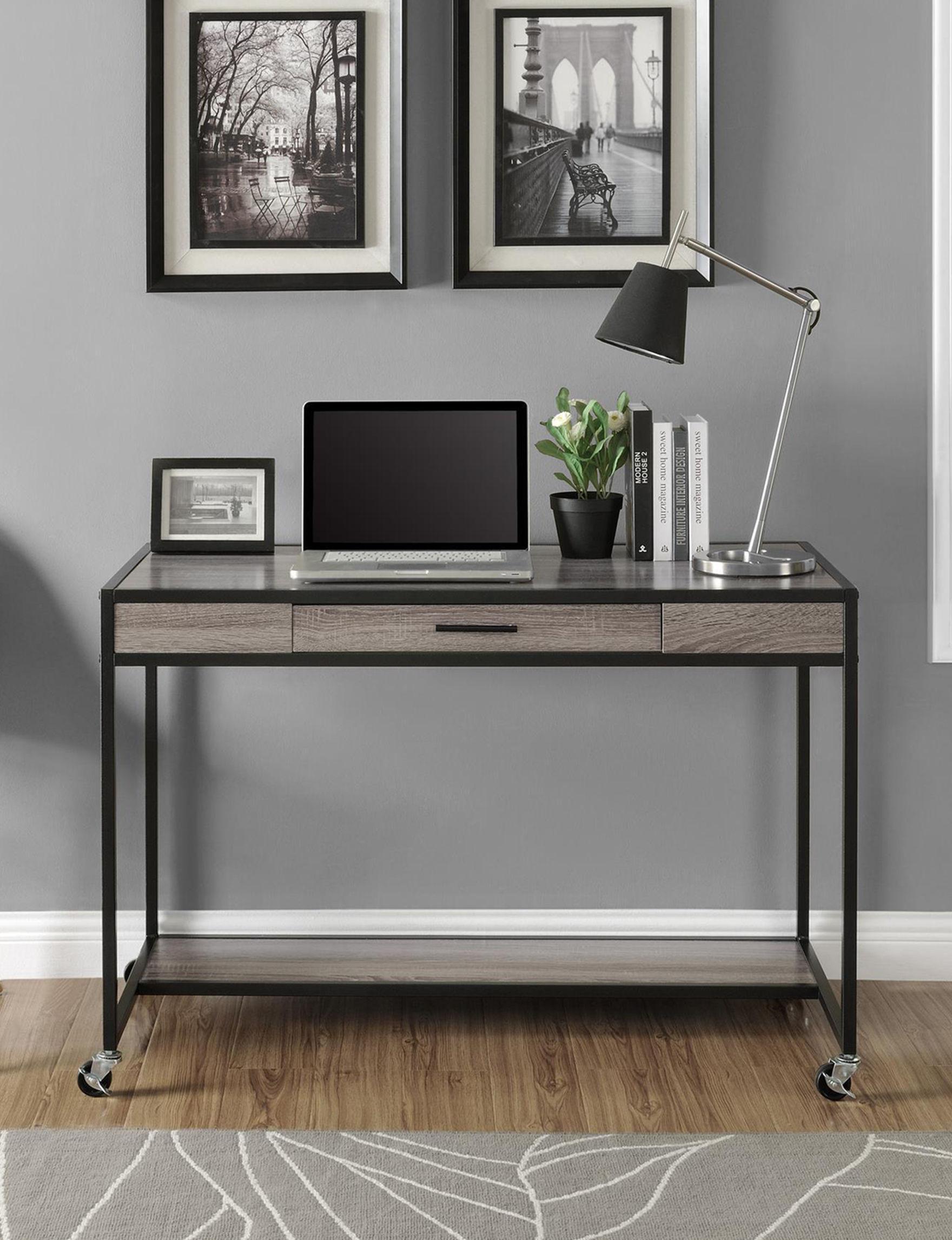 Ameriwood Oak Grey Desks Home Office Furniture Living Room Furniture